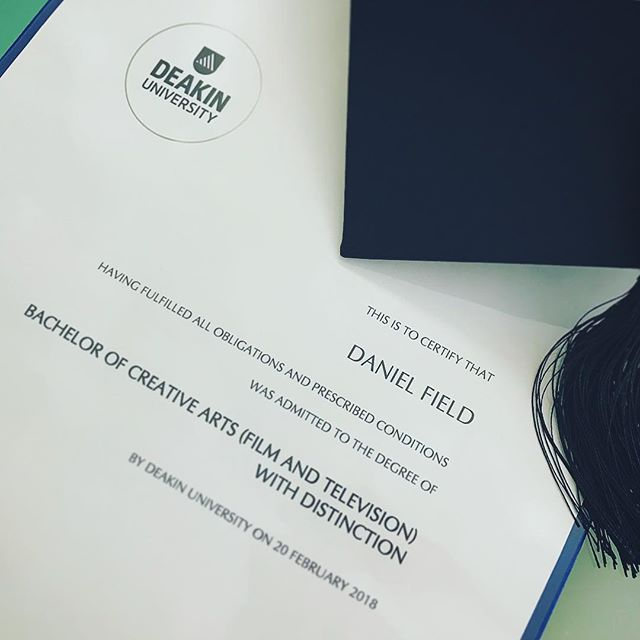 Just graduated with a degree in creative arts (film and television). Been an amazing 3 years at Deakin University (Burwood)