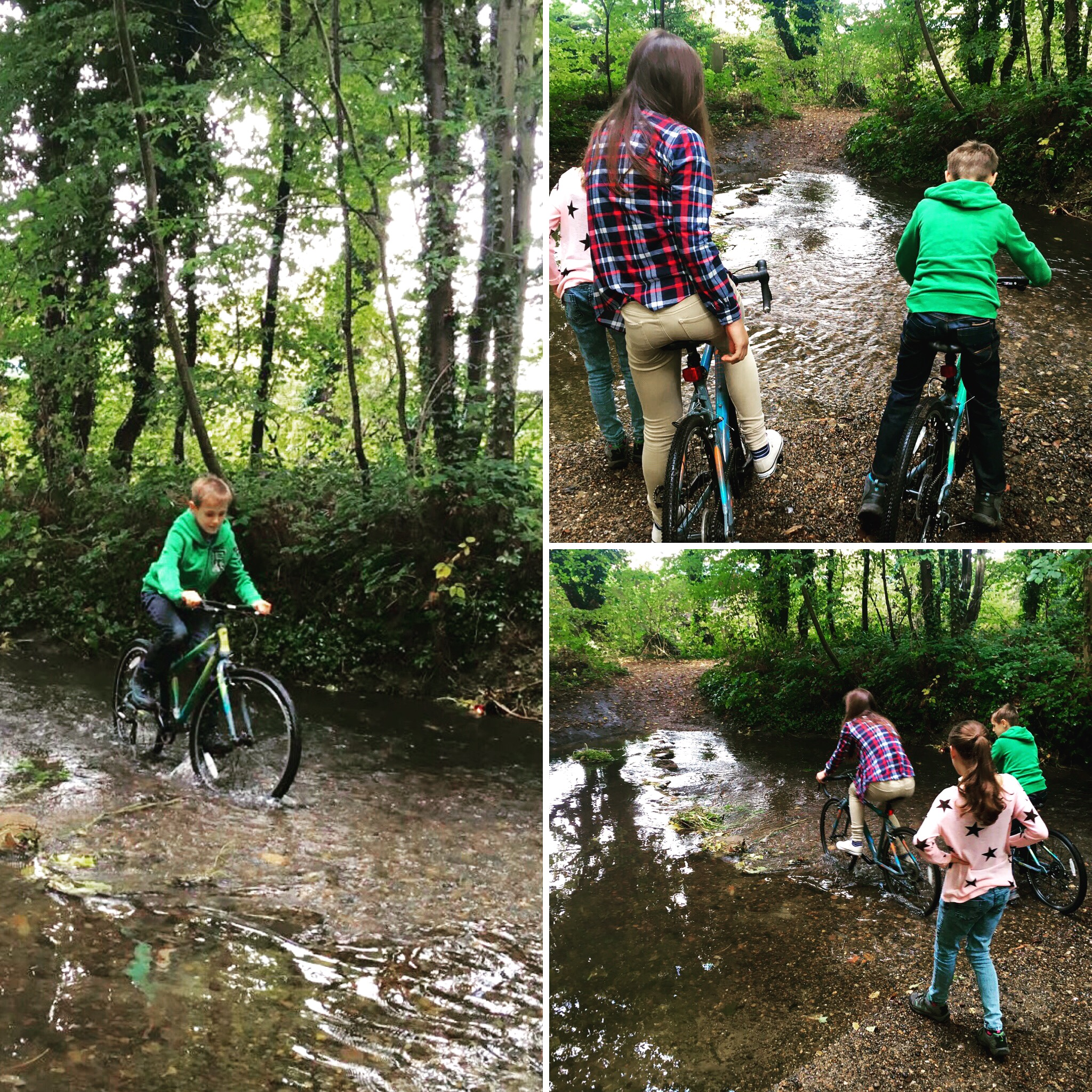 Fording the river (I think we mean stream!)