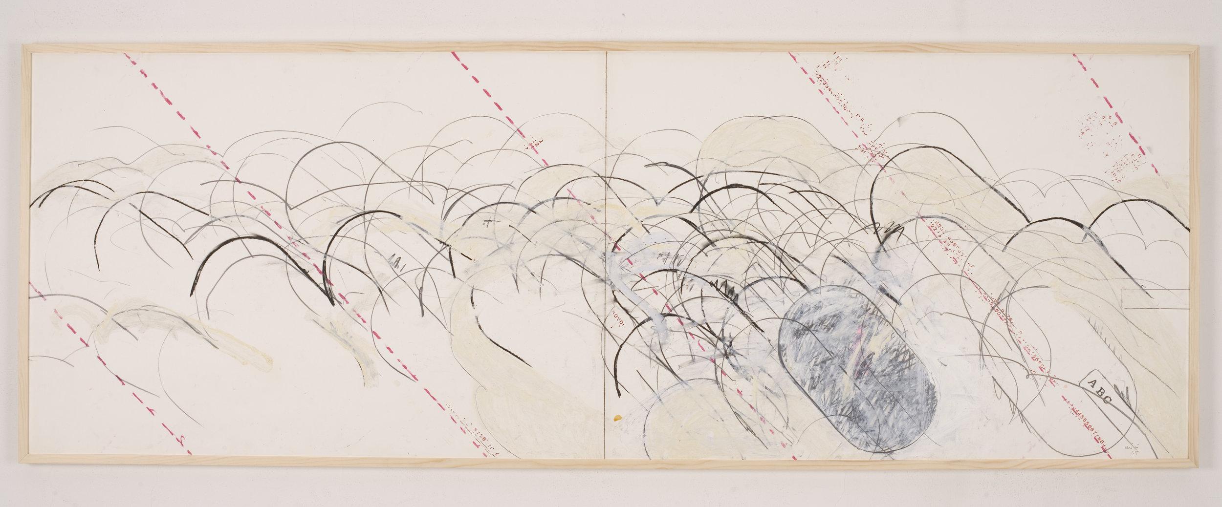 """Carta progetto """"studio per assonometria simultanea"""", 1965"""