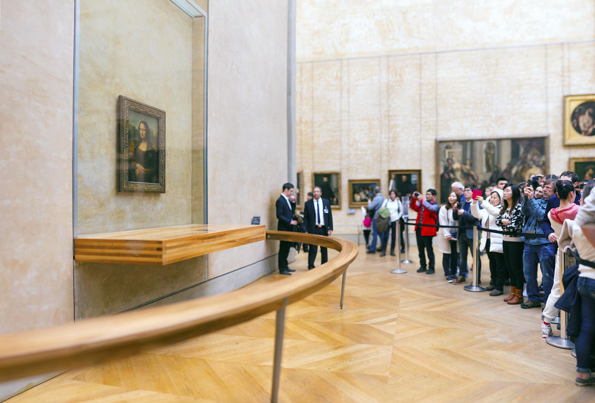フランス:「ルーブル美術館、モナリザ/Louvre Museum ,Mona Lisa」