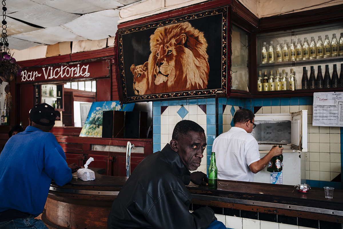 A Cuban has a drink at Bar Victoria in Havana Vieja.