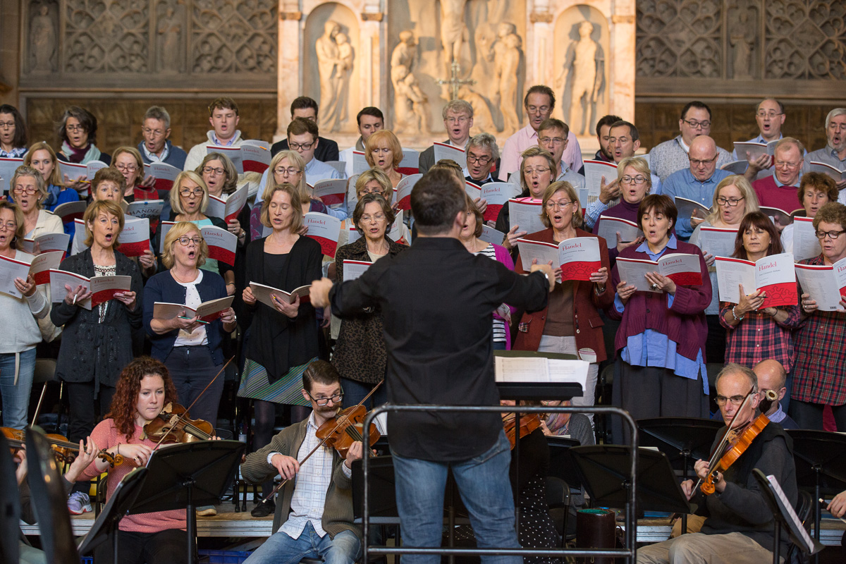 the choir in full flow