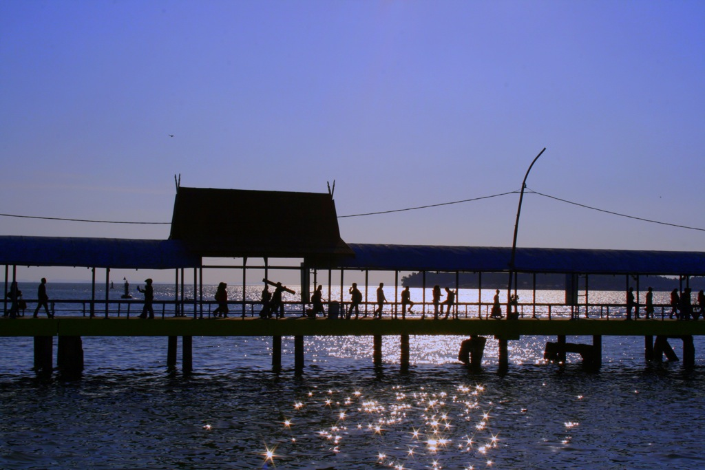 Travelers need to get to Bintan and board a private boat arranged by the hosts of Palau Pangkil