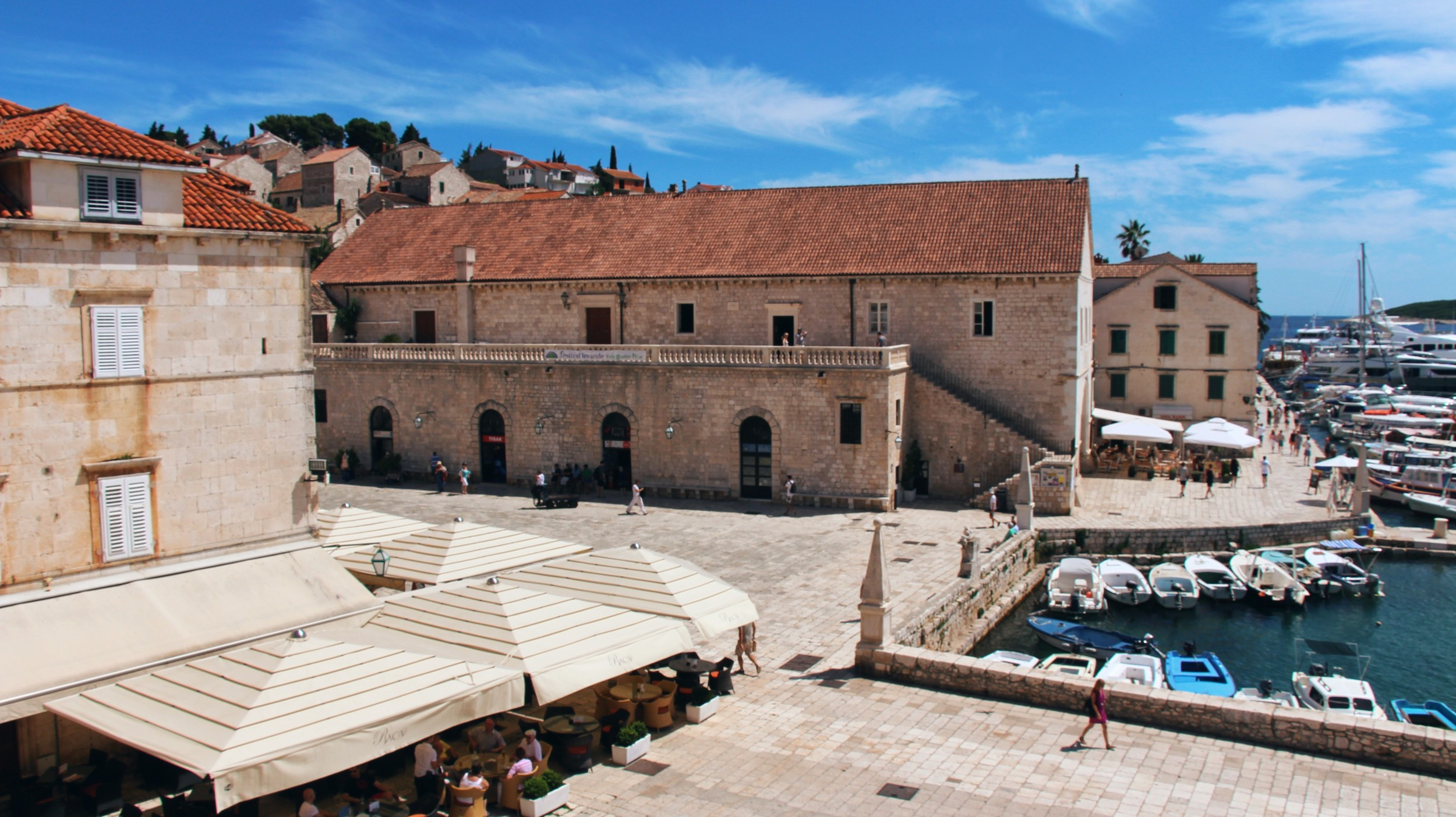 Aerial view of Hvar town