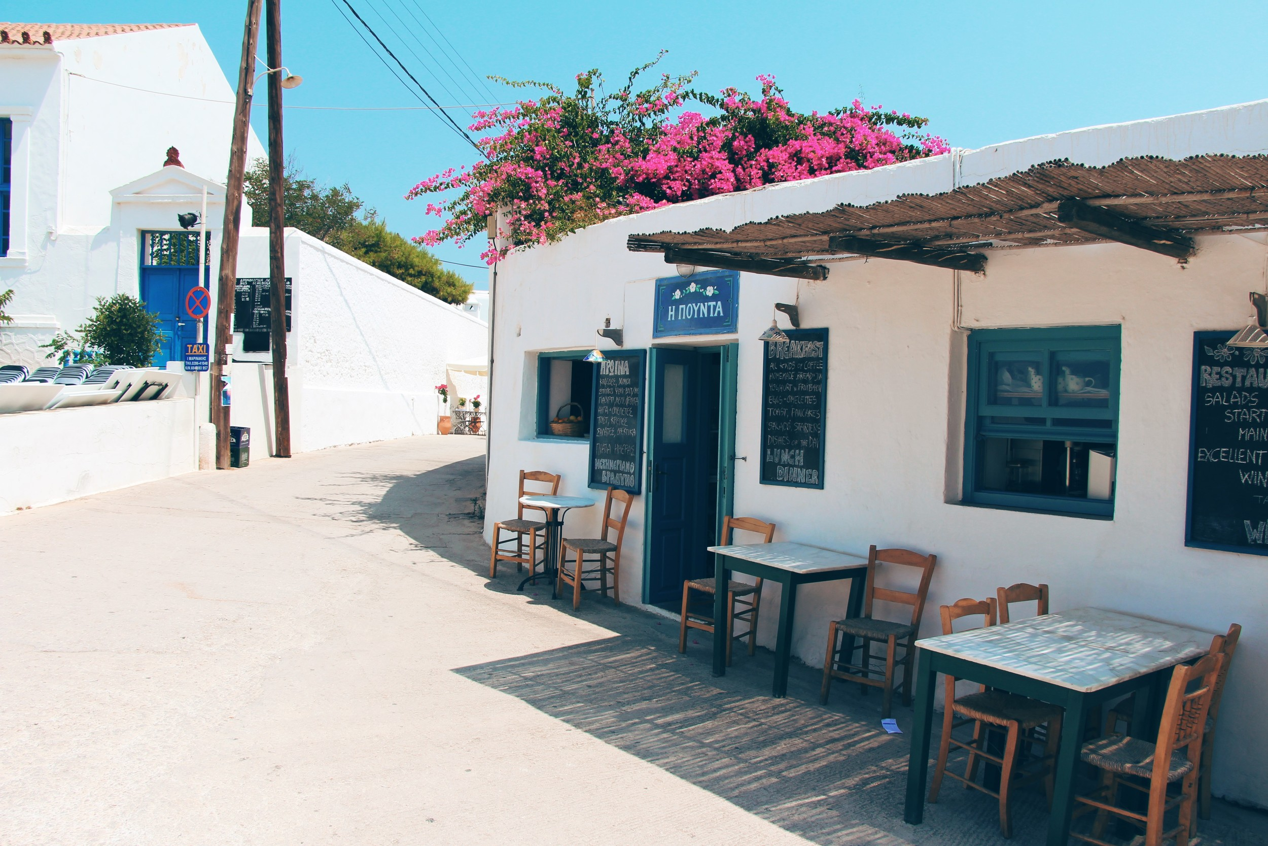 Pounta serves great breakfast with freshly baked bread,locally produced jams and tasty eggs