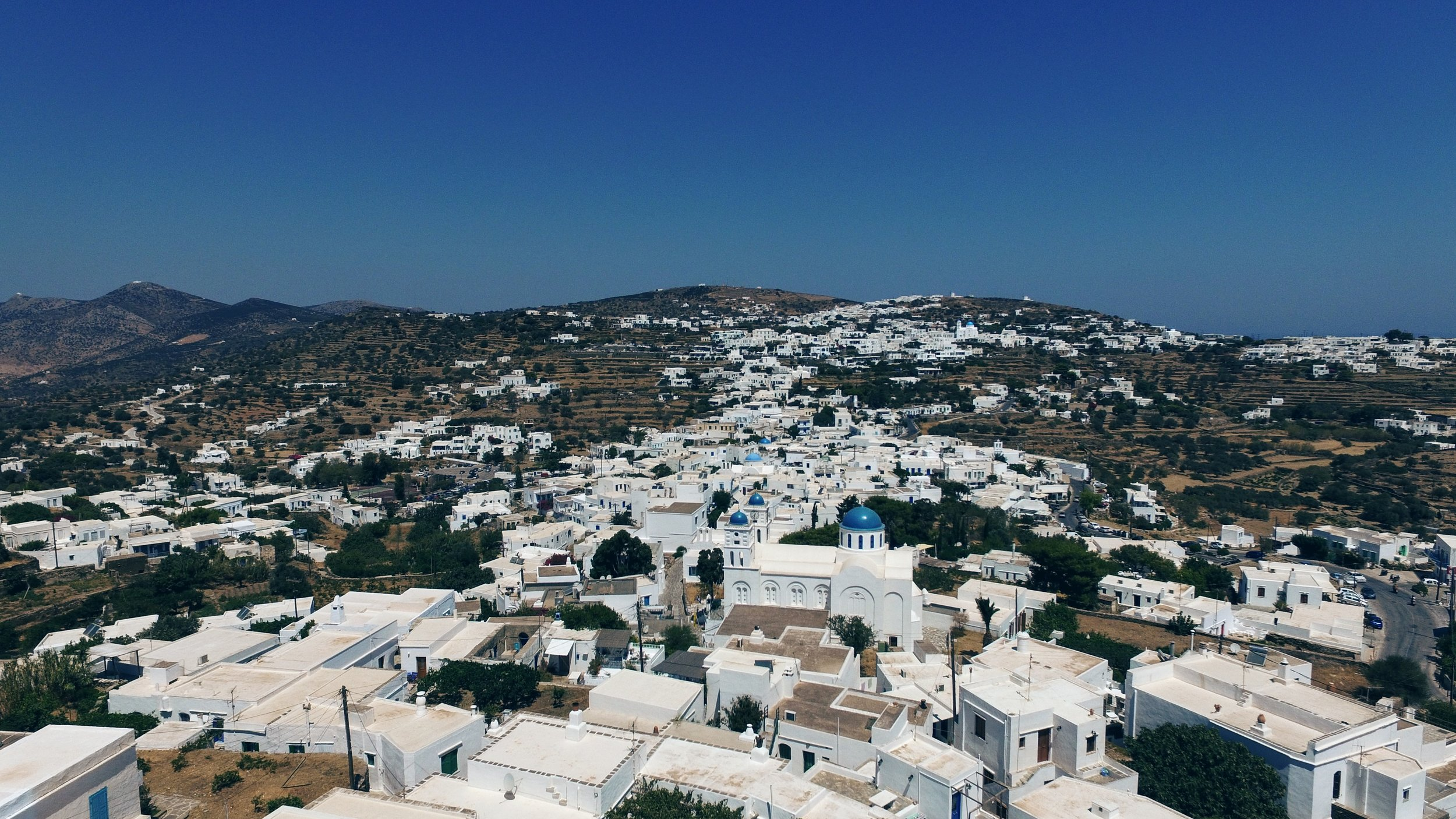 White-washed houses at Apollonia's settlement