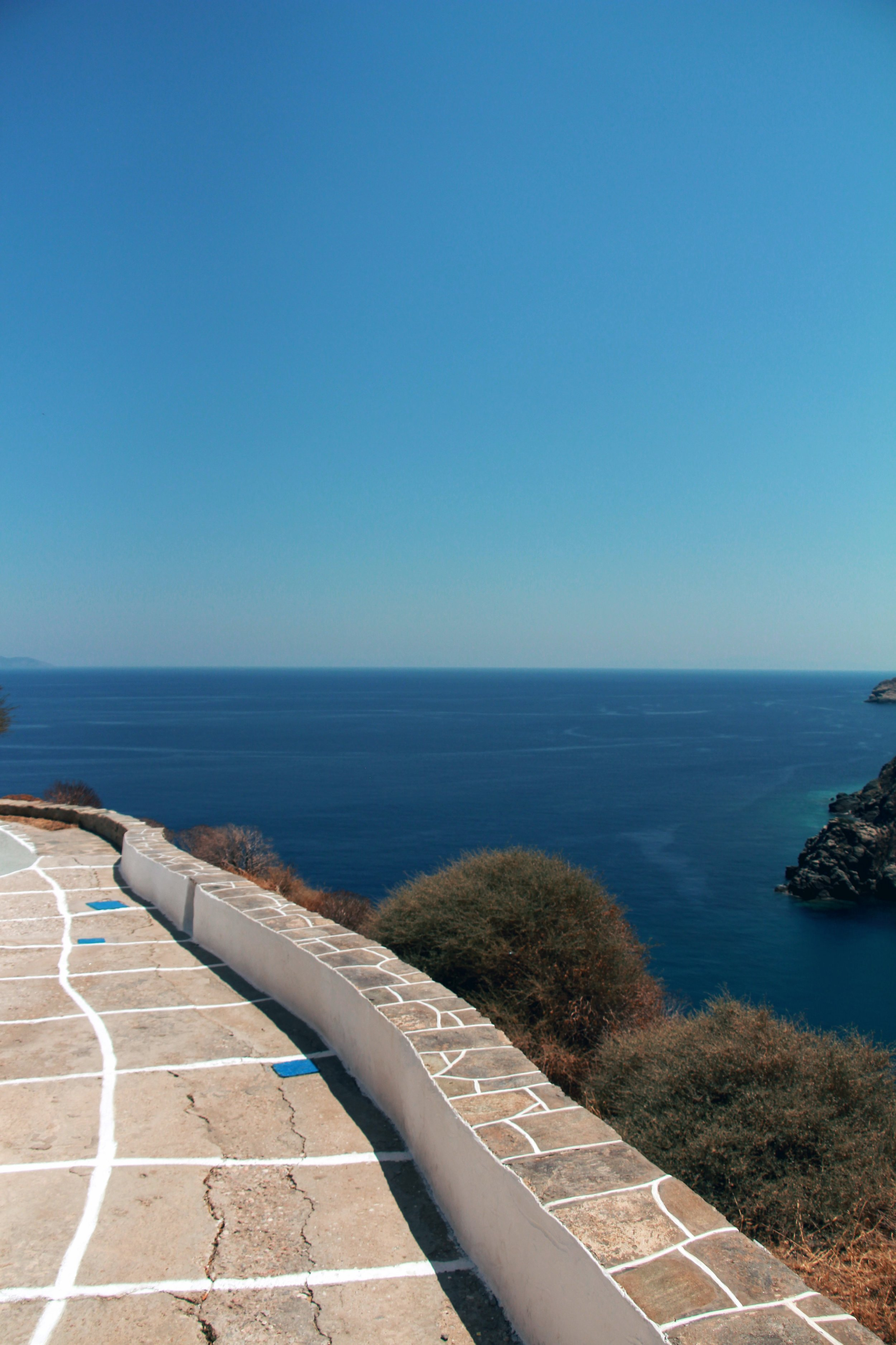 Thew view from Kastro to Antiparos is stunning