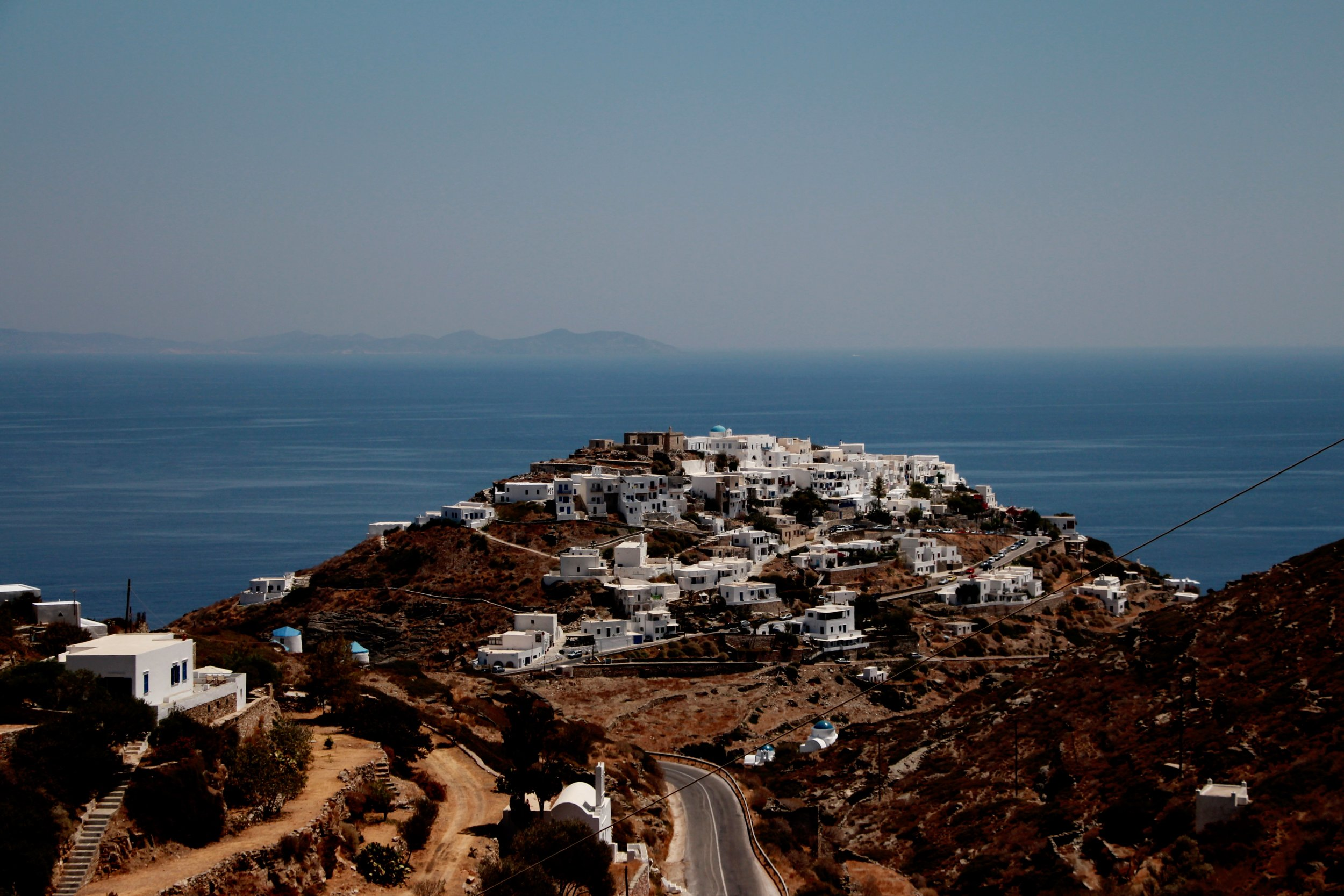 The view from Kastro to Antiparos is stunning
