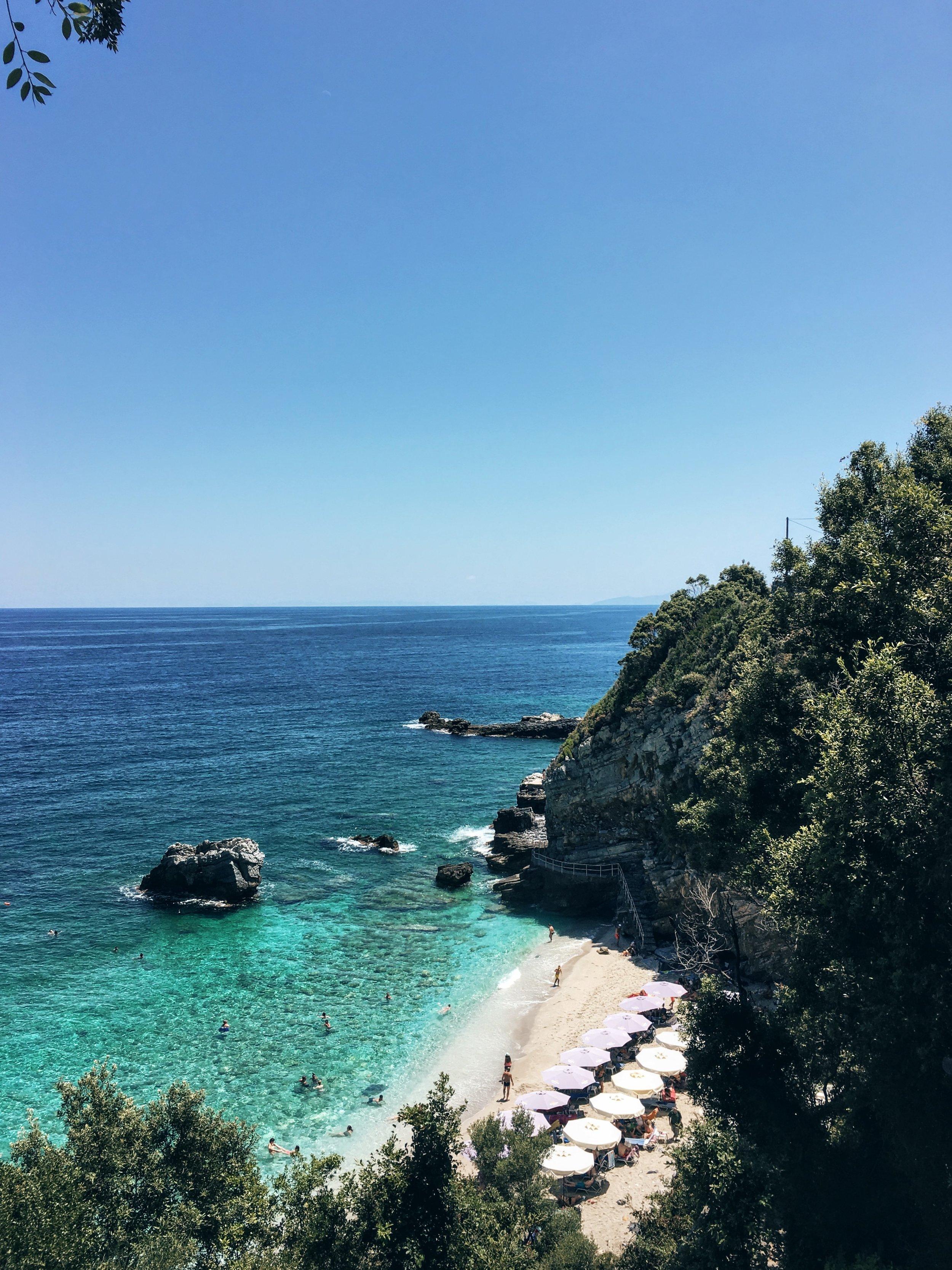 The beach of Mylopotamos