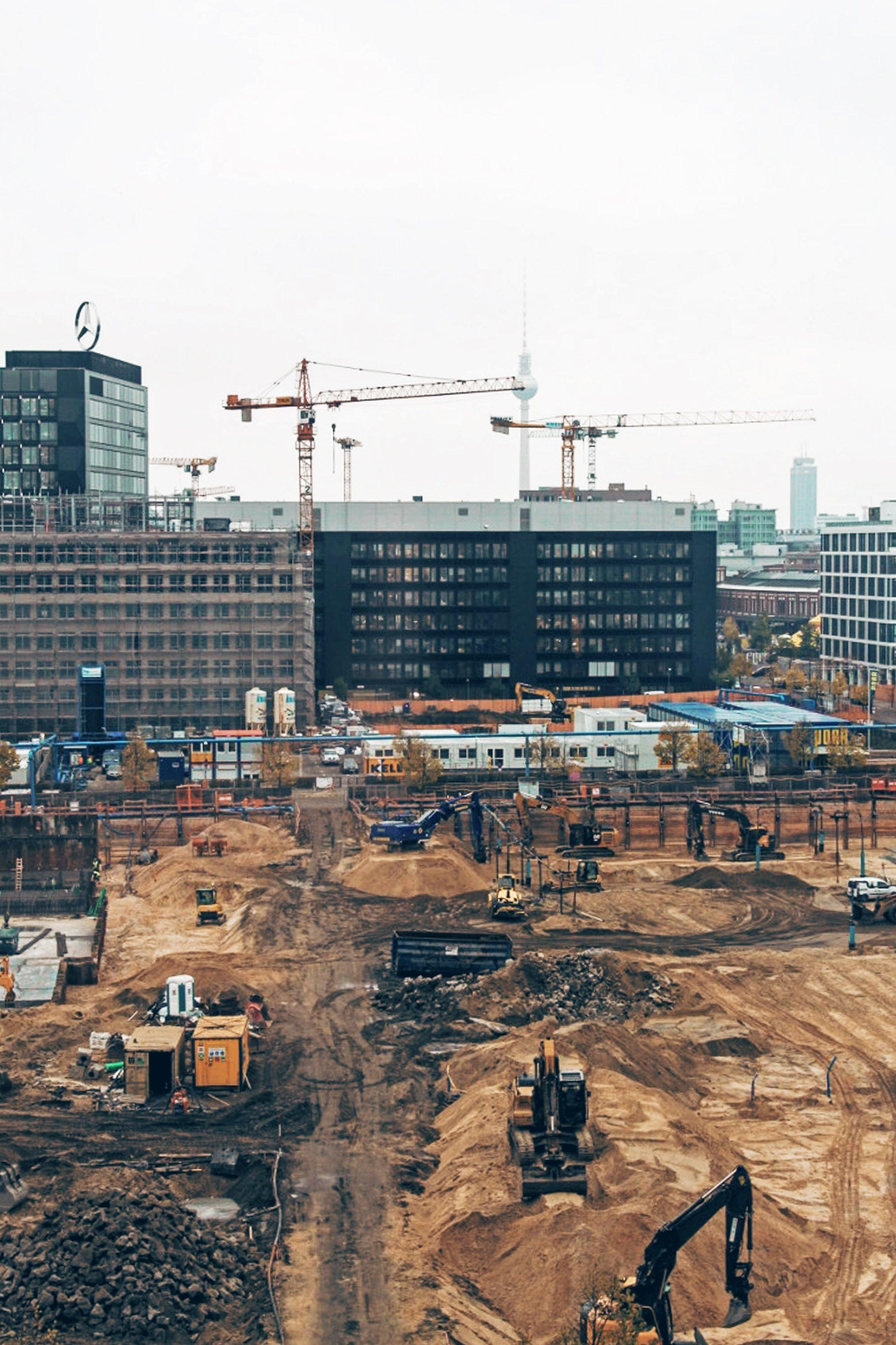 Berlin - the city of cranes