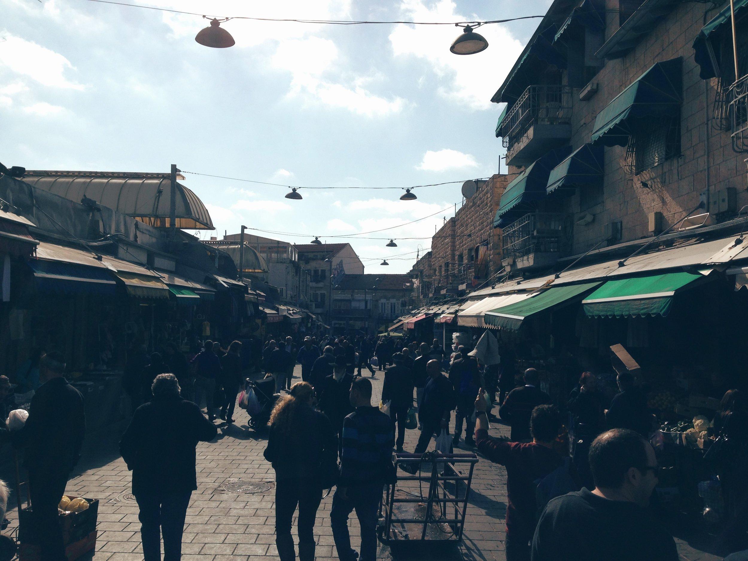 Mahane Yehuda food market in Jerusalem