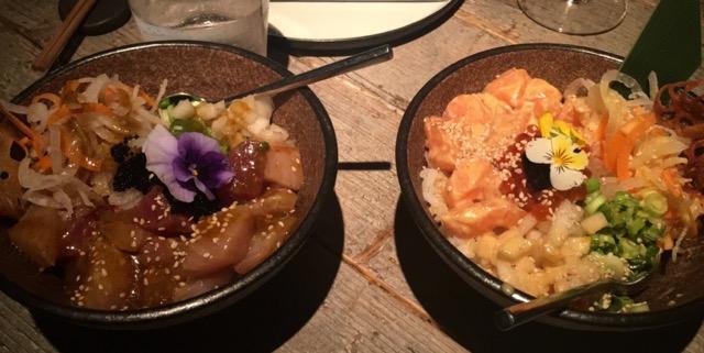 Fish Poke bowls at Black Roe