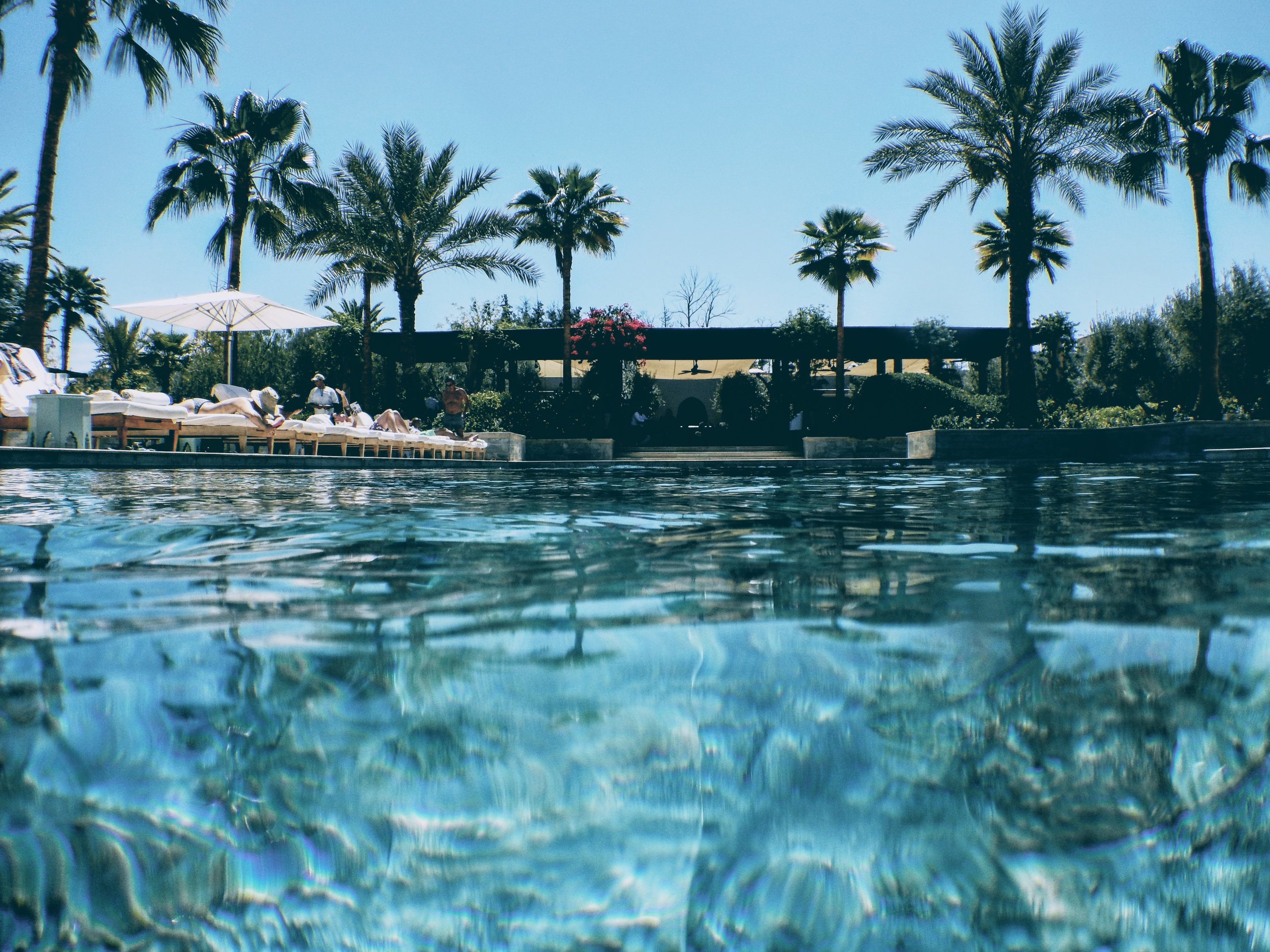 One of the swimming pools at the Four Seasons