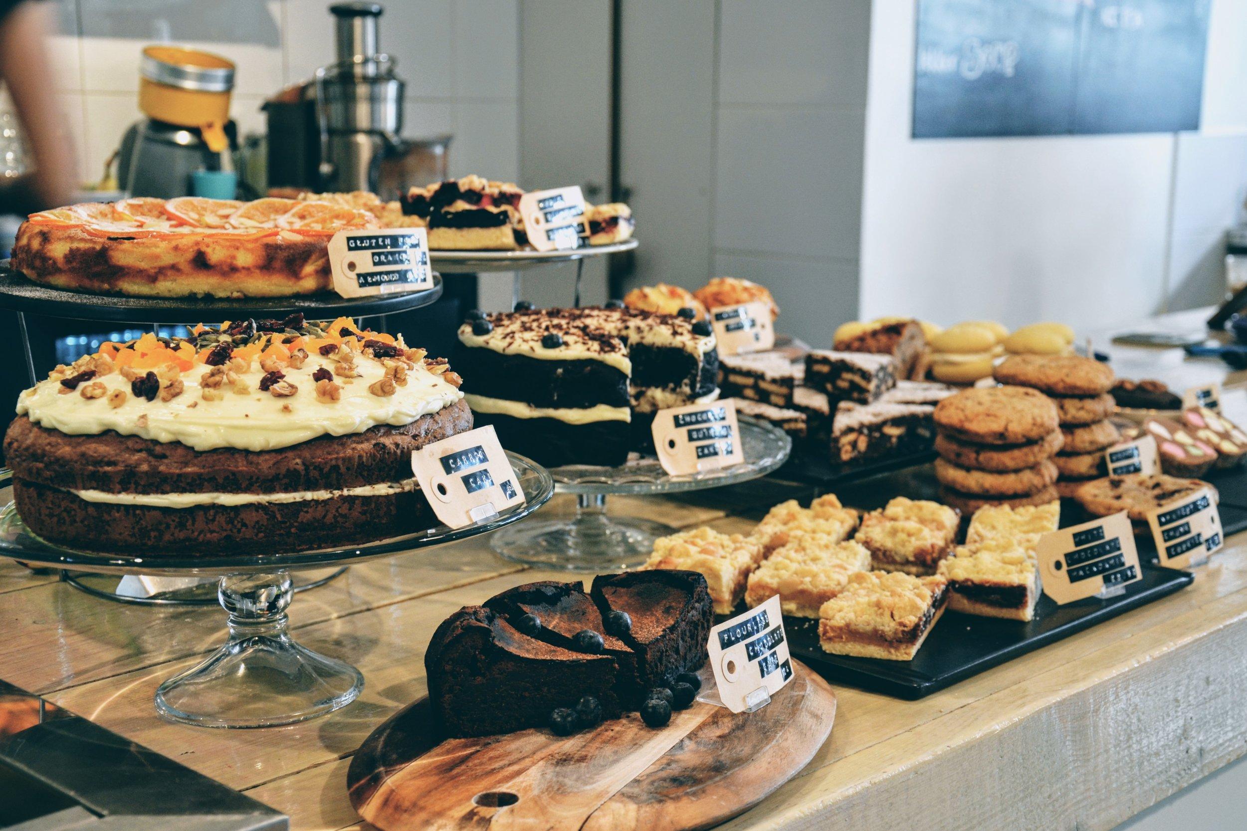 Plentiful breakfast options at Bakers & Roasters