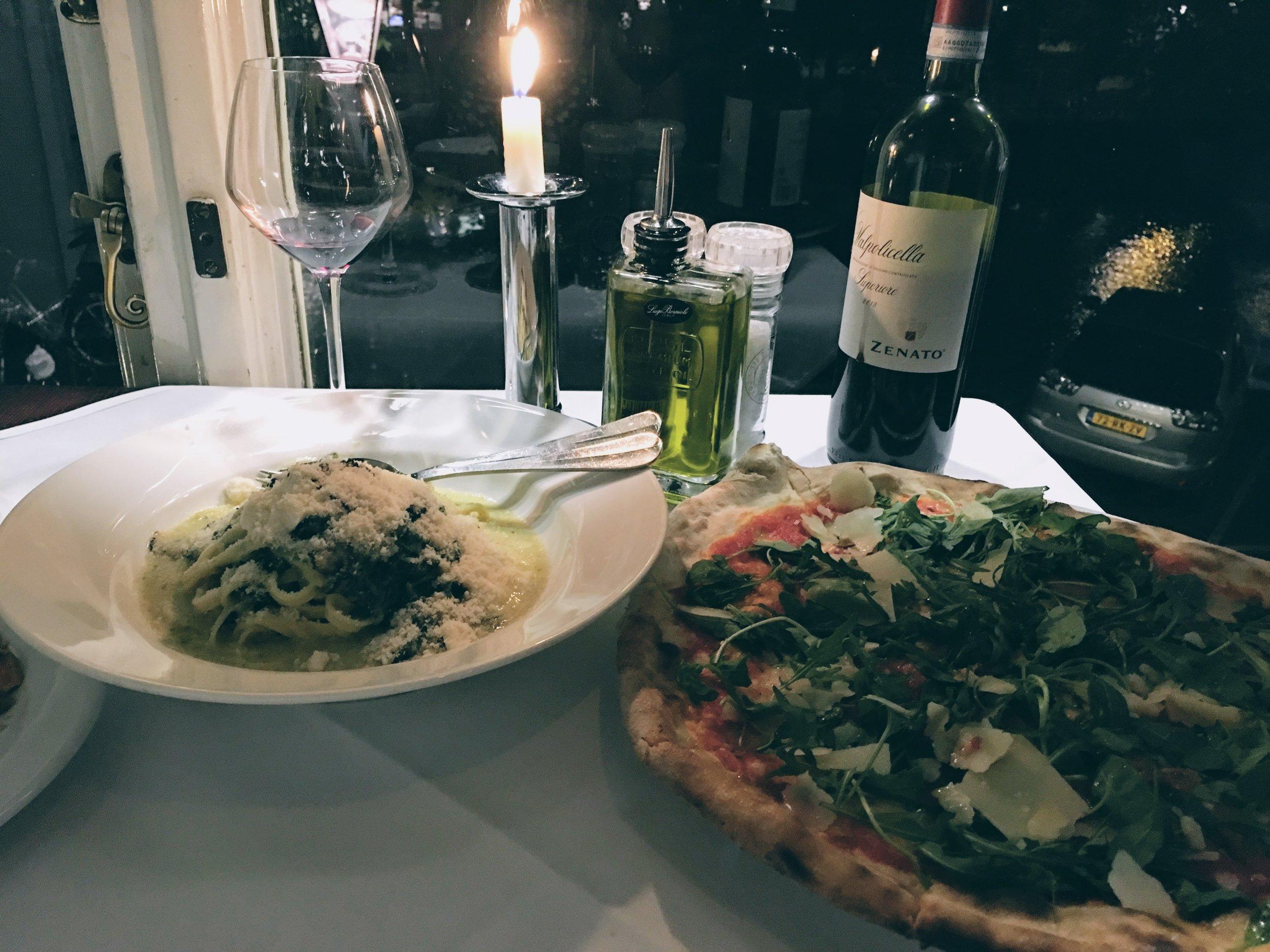 Pasta and pizza at Casa Di David