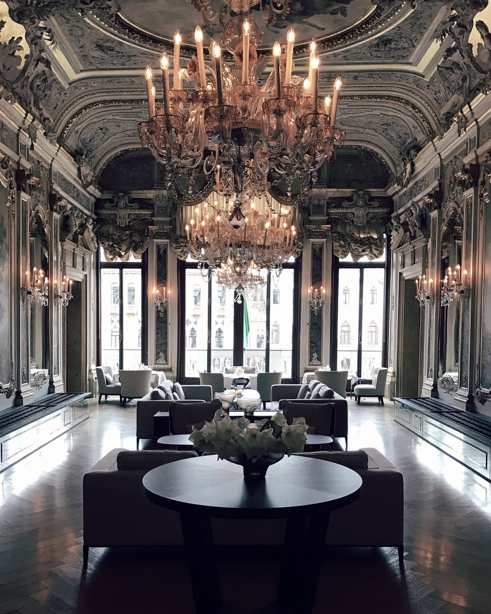 Aman Venice  – set in the 16th-century palazzo Papadopoli on the Grand Canal – is home to museum-quality treasures including Tiepolo frescoes, gilded ceilings and centuries-old leather wall coverings.Thus it comes as no surprise that George Clooney and Amal Alamuddin have chosen this 7 star Grande Hotel as the location for their celebrity-studded wedding.