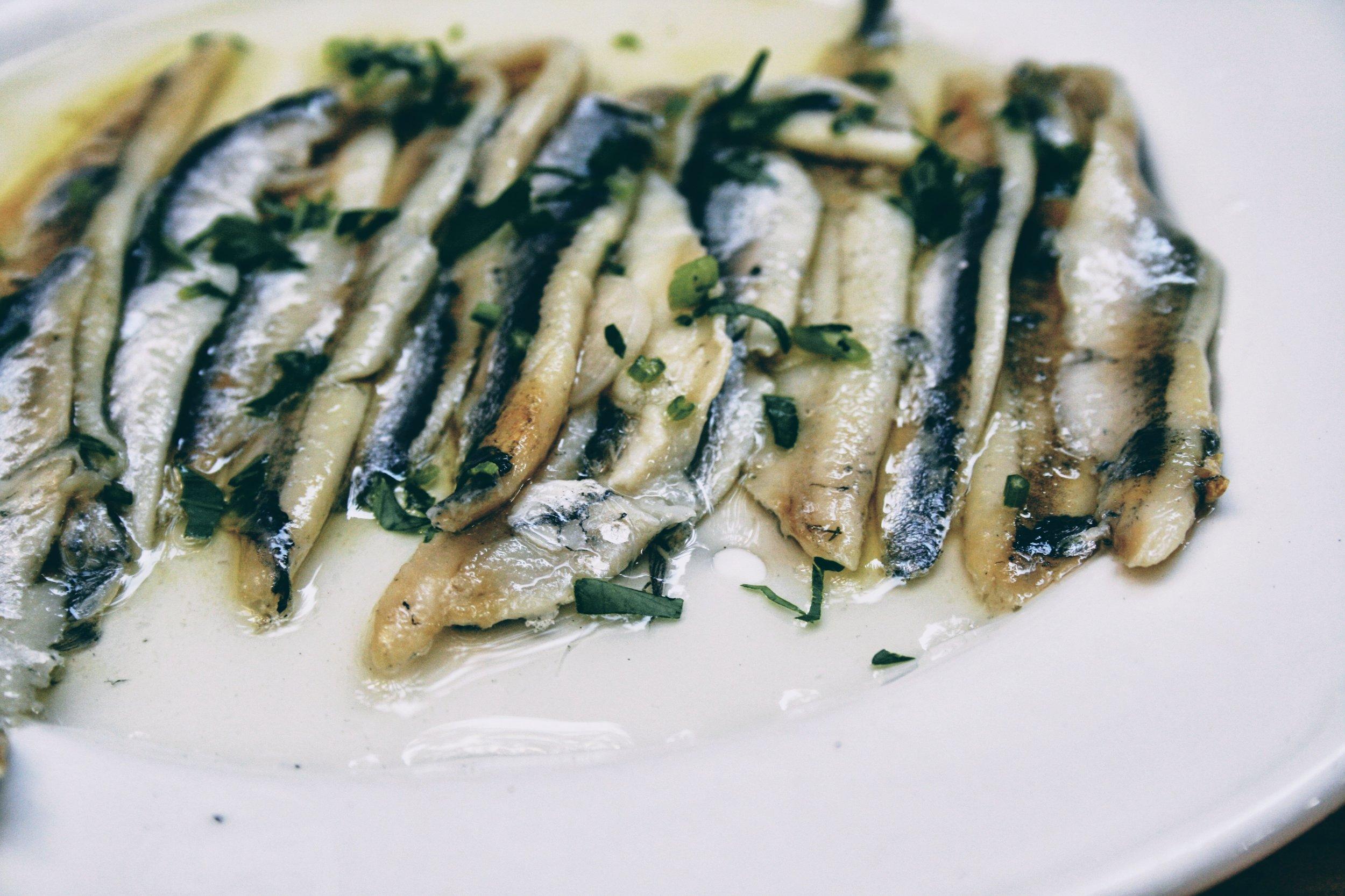 Marinated sardines in extra virgin olive oil