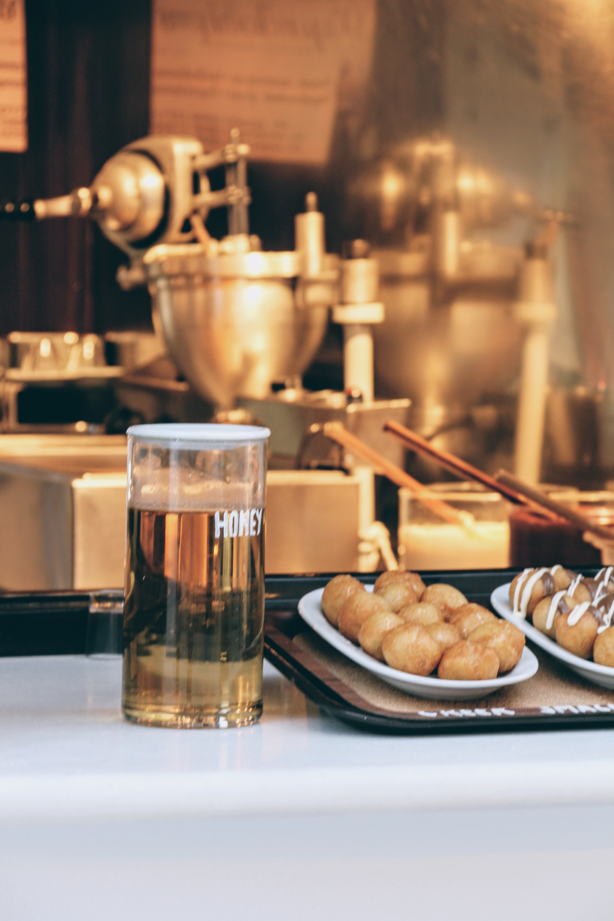 The infamous honey dumplings in Naoussa