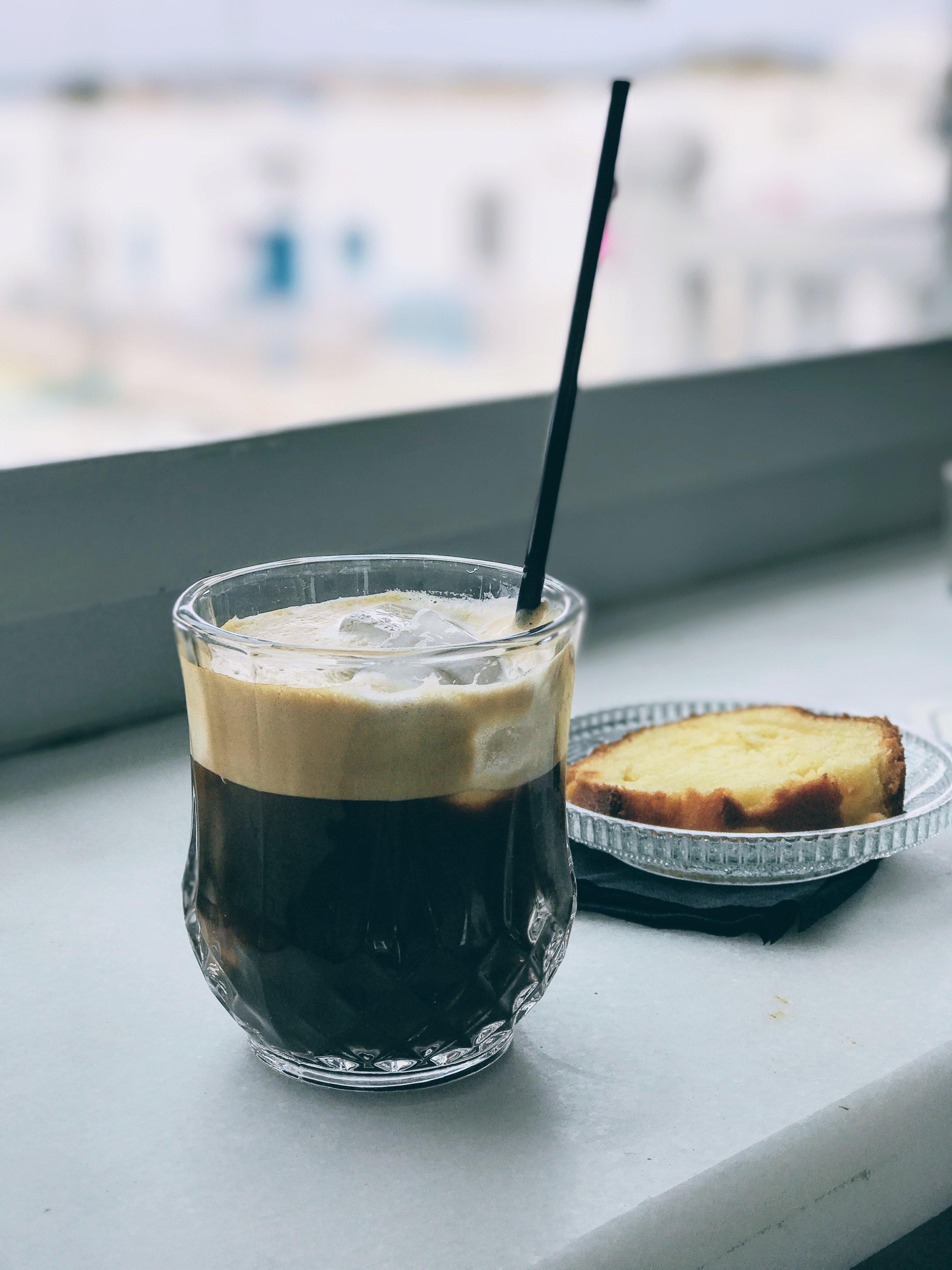Caffeine fix at Sommaripa in Naoussa
