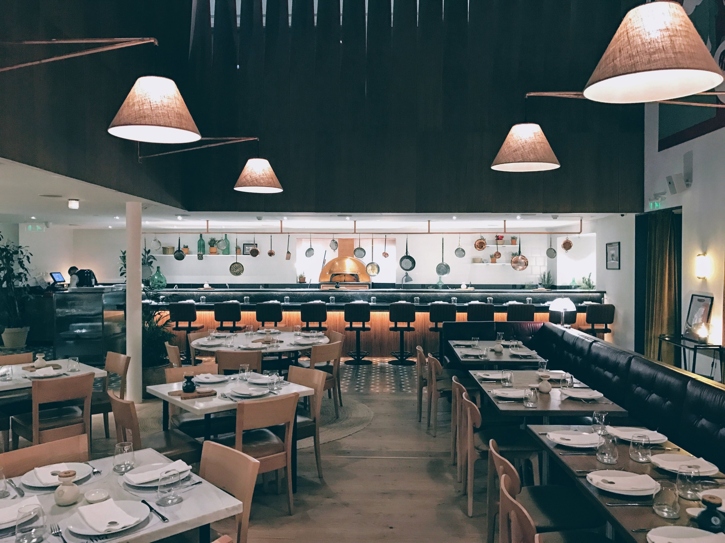 Cosy indoors at Nolita Athens restaurant