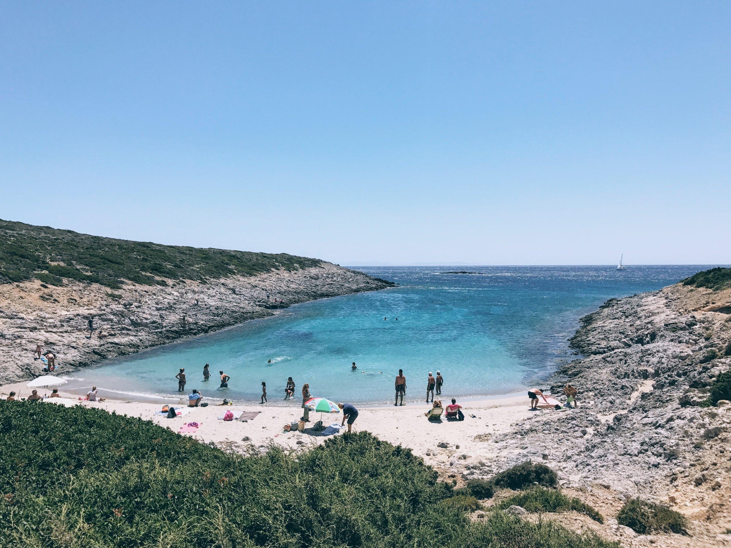 Gorgeous setting at Panagia Faneromeni beach