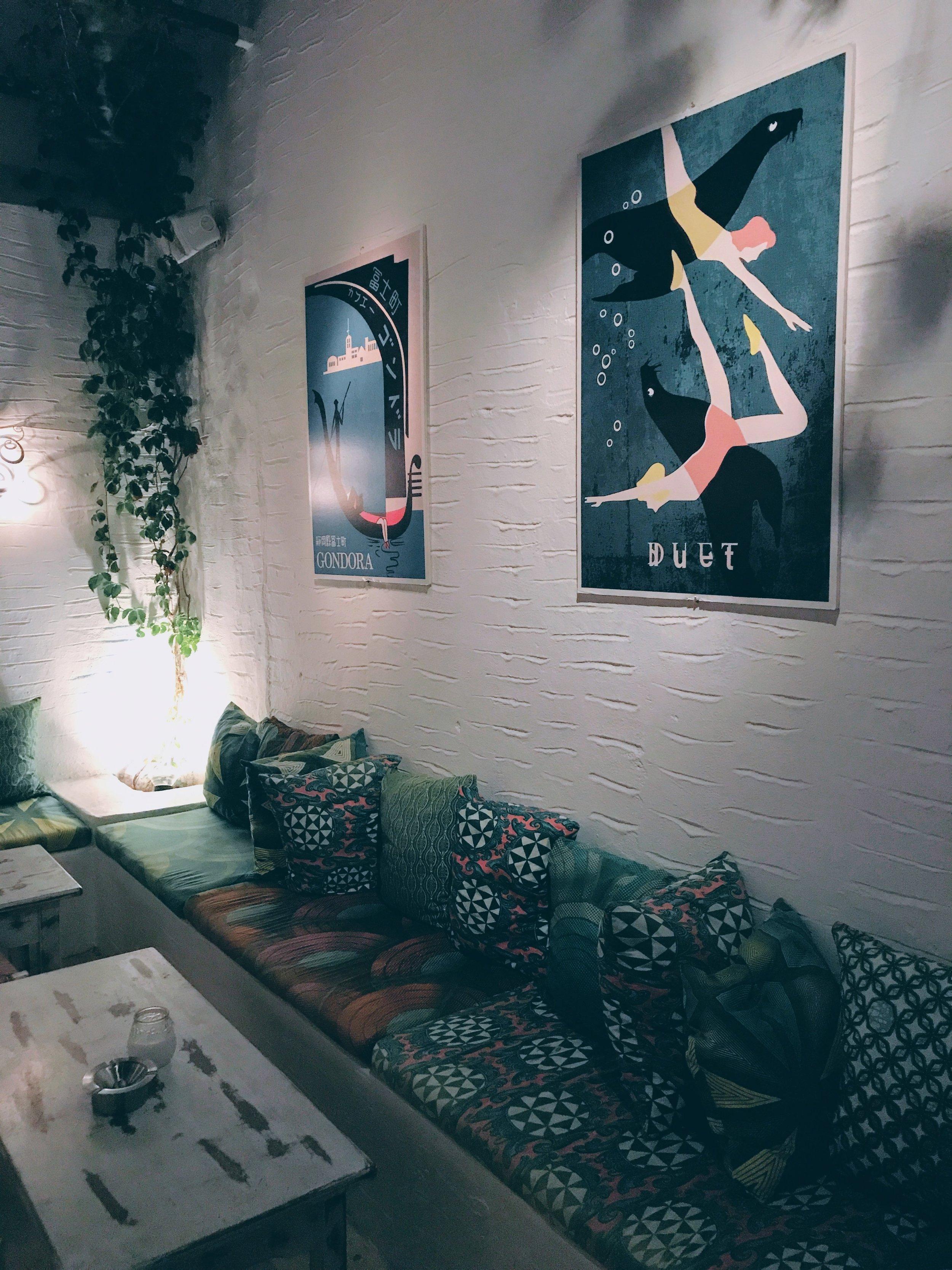 Lounge area at Boogaloo bar/club