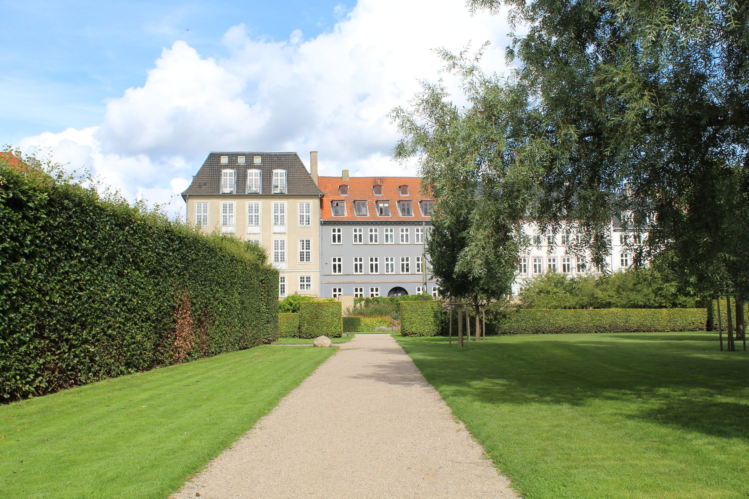 A path in the King's Garden, adjacent to Rosenborg Castle.