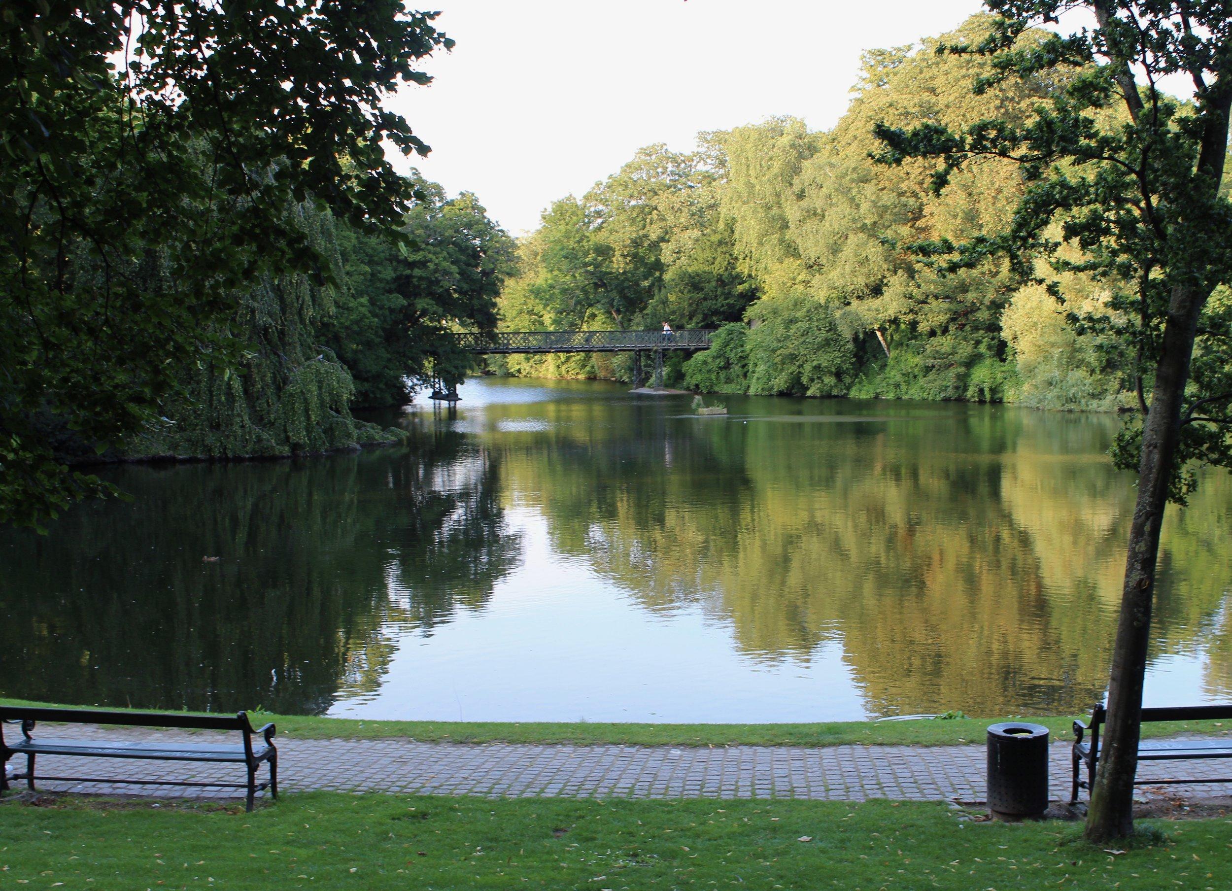 At Ørstedsparken park enjoying my Coffee and Danish from Lagkagehuset.