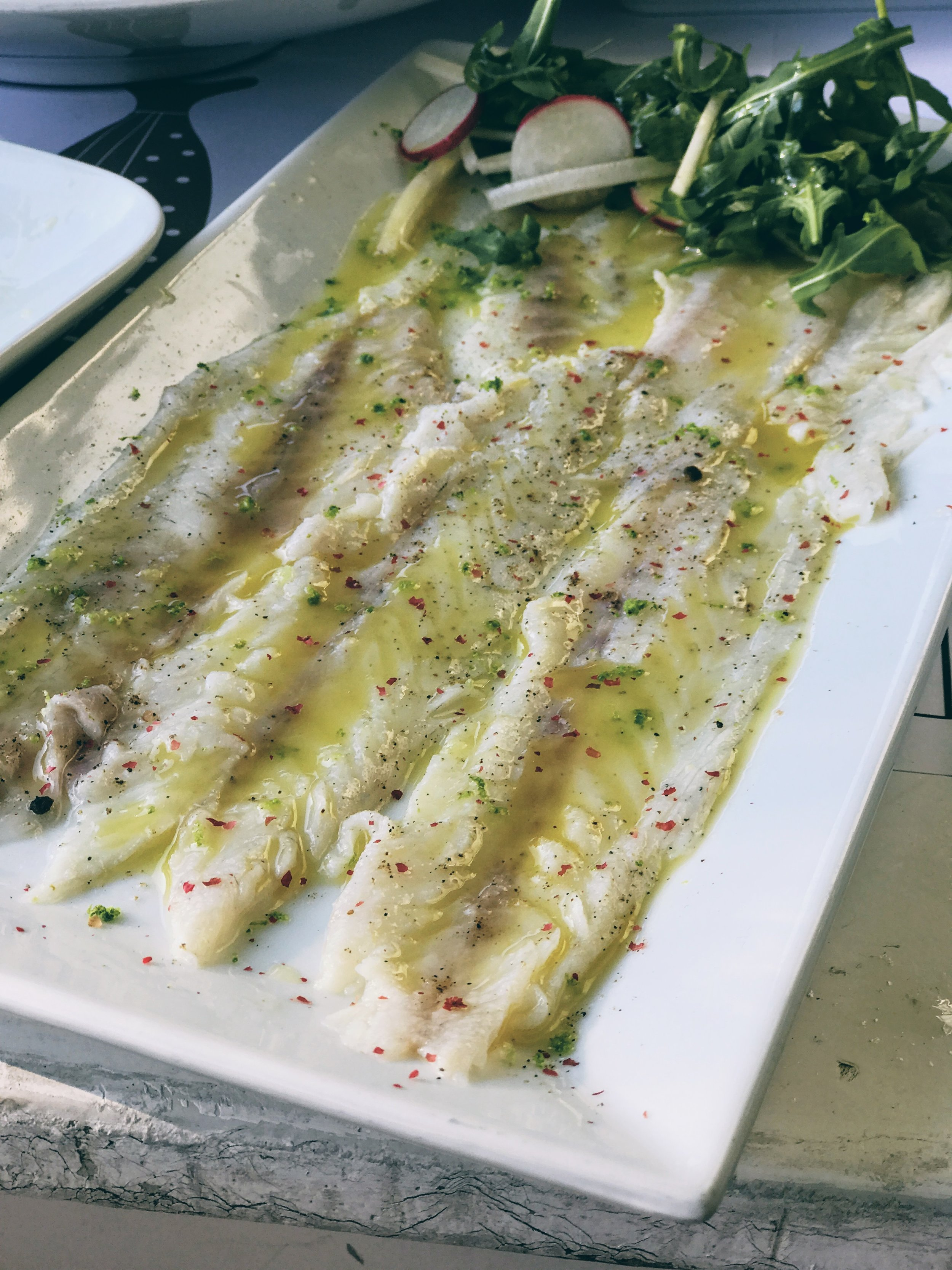 Perfectly marinated seabass
