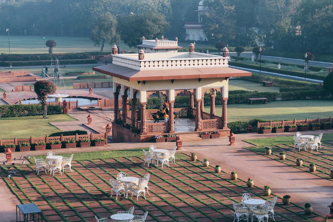 Walk the grounds of the Taj Jai mahal Palace and feel like royalty.