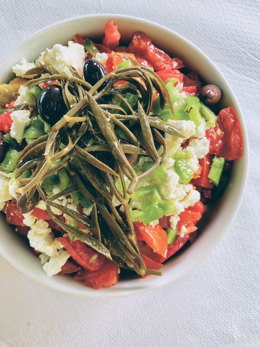 Vrehtoladea salad at Filio tavern in Kalamos