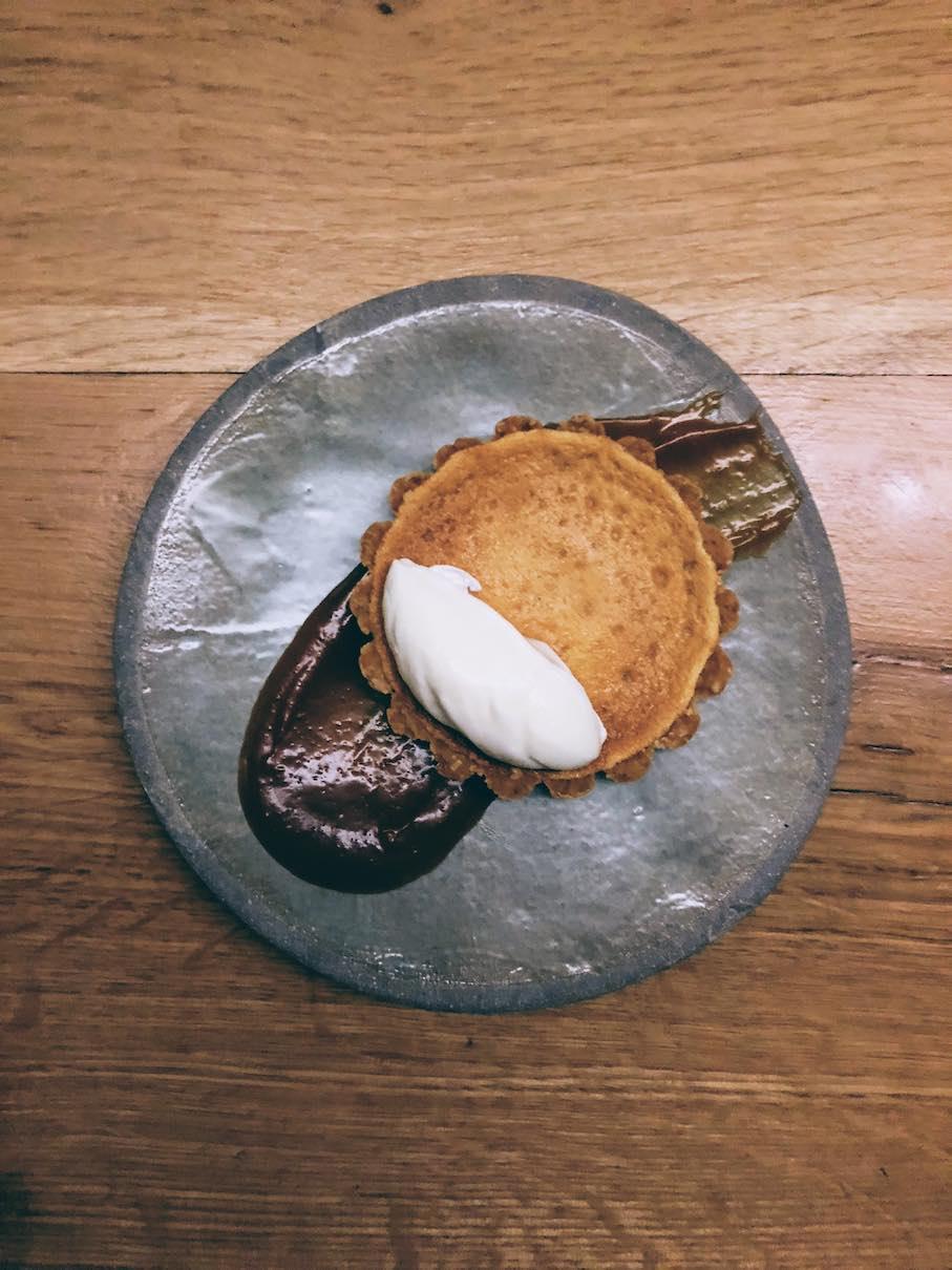 Miso pie with yoghurt