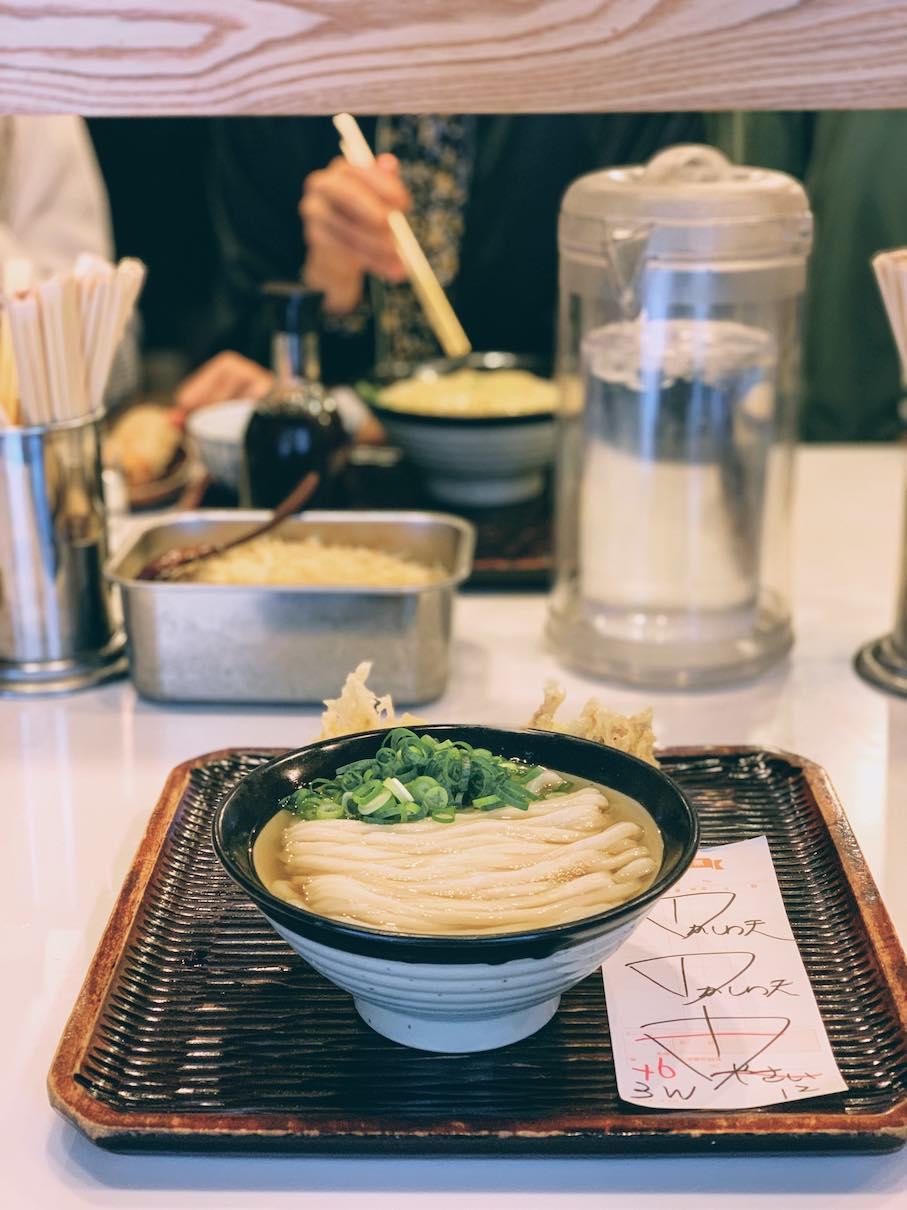 Udon noodles bowl at Udon Maruka