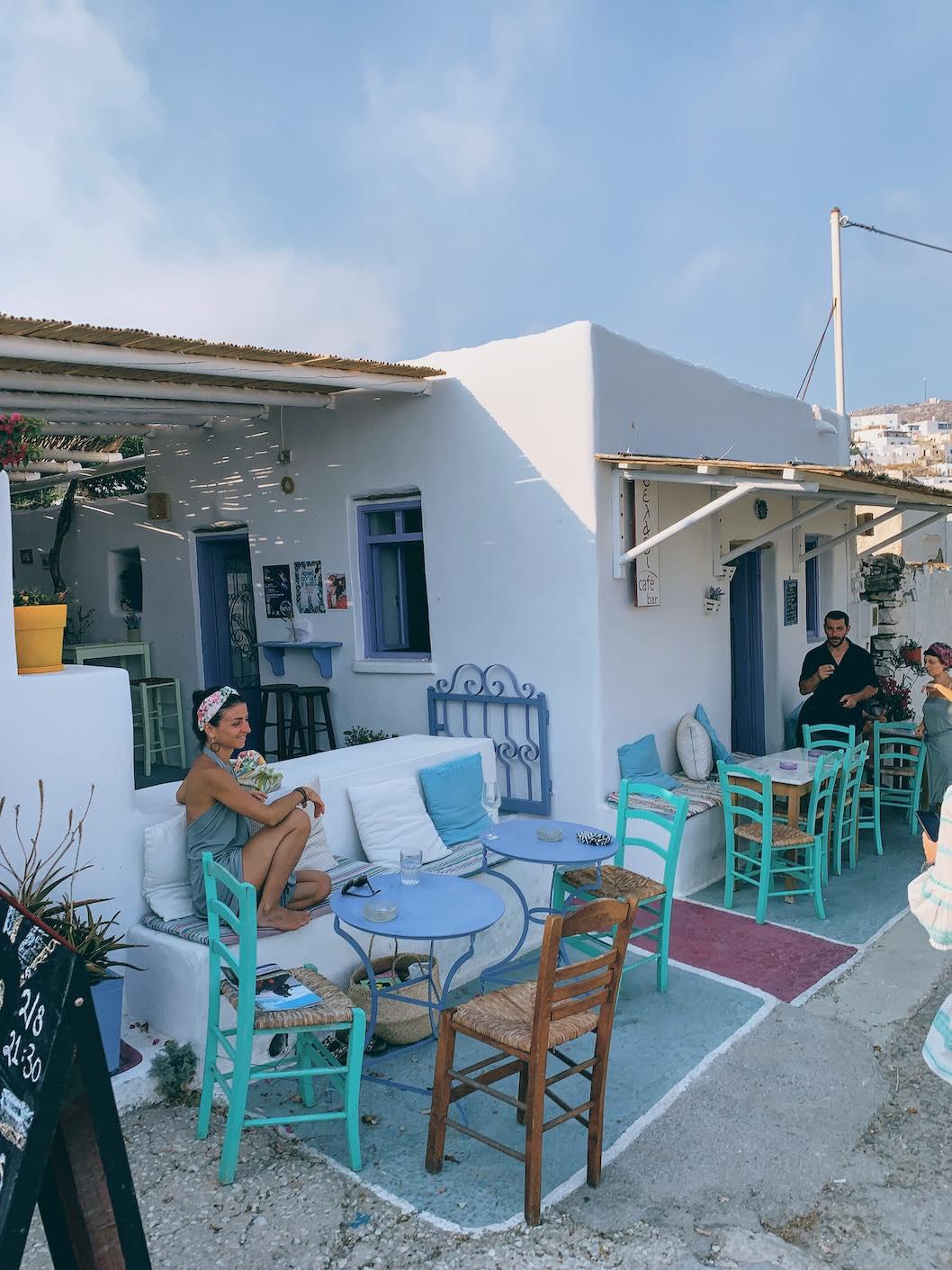 Seladi bar in Tholaria, Amorgos