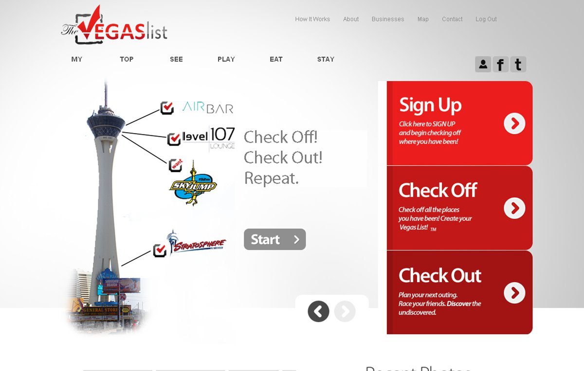 TheVegasList Home Page
