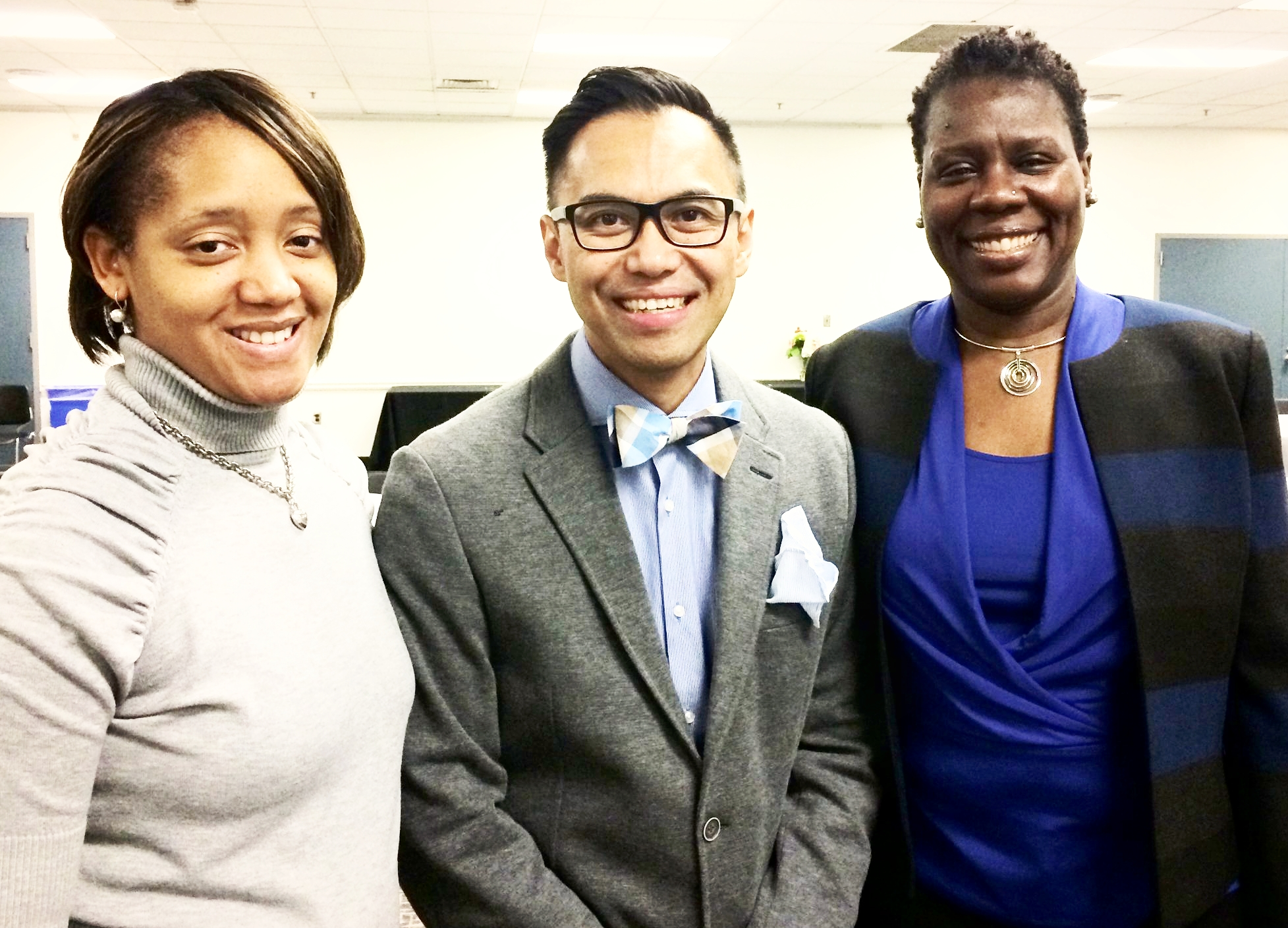L to R: Dana Perry, Alden E. Habacon, Dr. Carol Henderson, Vice Provost for Diversity