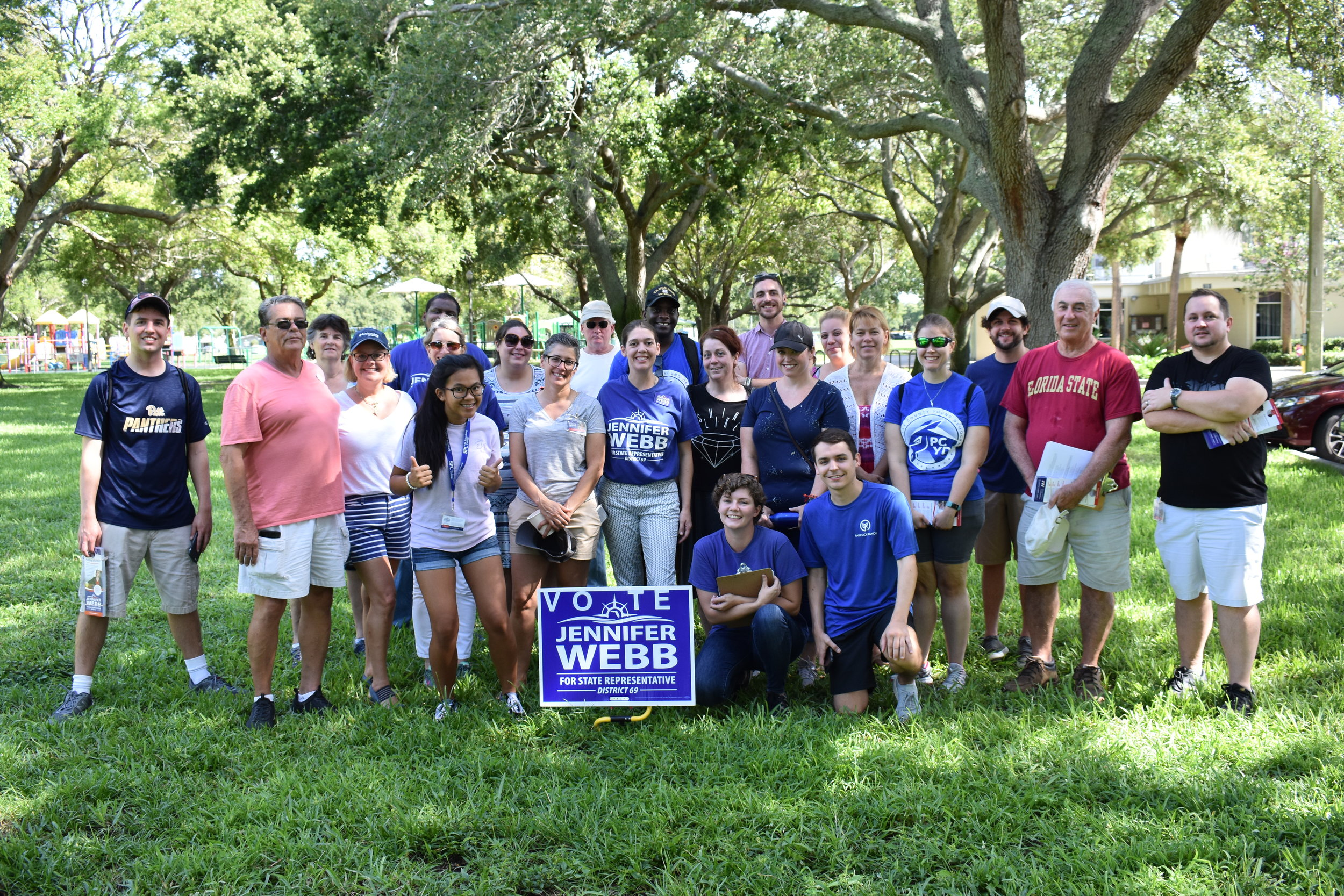 Voter Blitz on July 14 & 15!  - #TeamWebb contacted over 4100 voters in House District 69 in just weekend! Sign up to volunteer for our weekly phonebanks and canvasses!