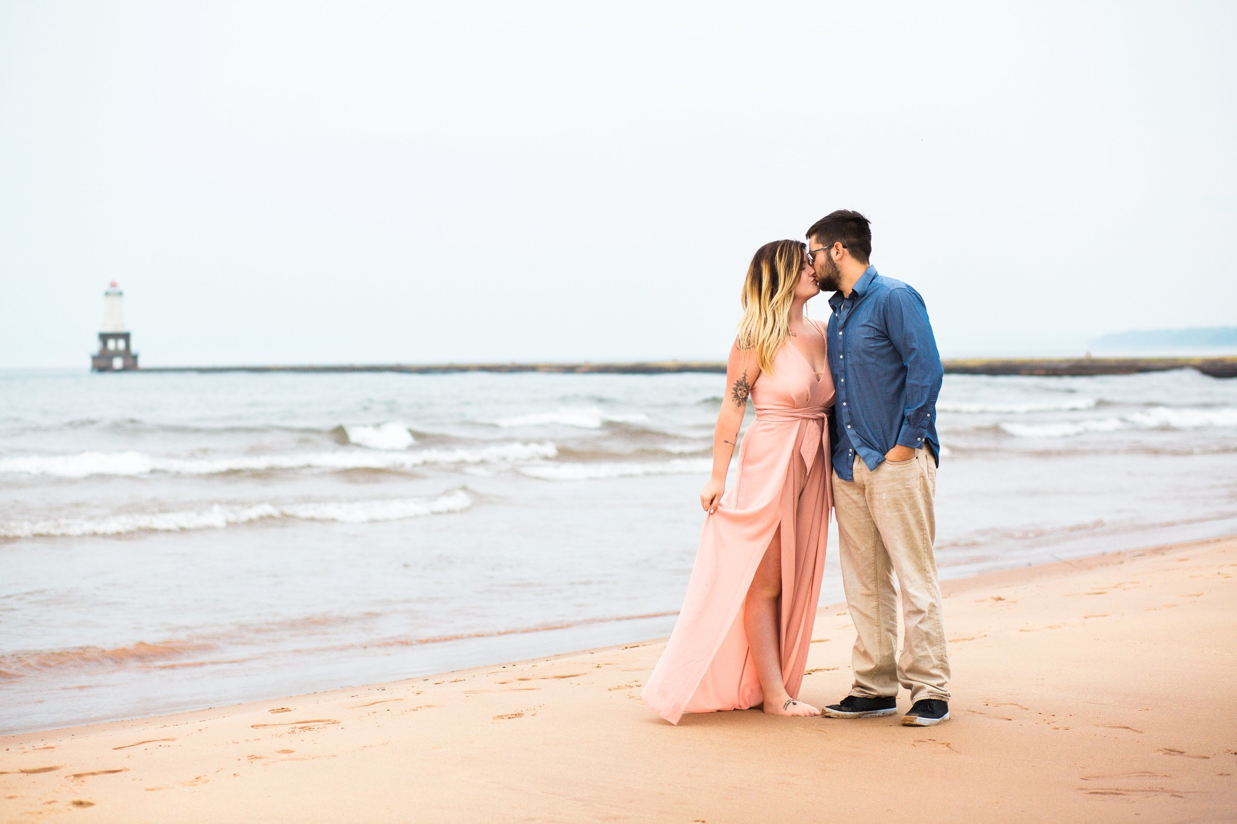 Lake Superior White City Beach Upper Michigan Engagement Photo Session by Seattle Engagement Photographer Janelle Elaine Photography.jpg