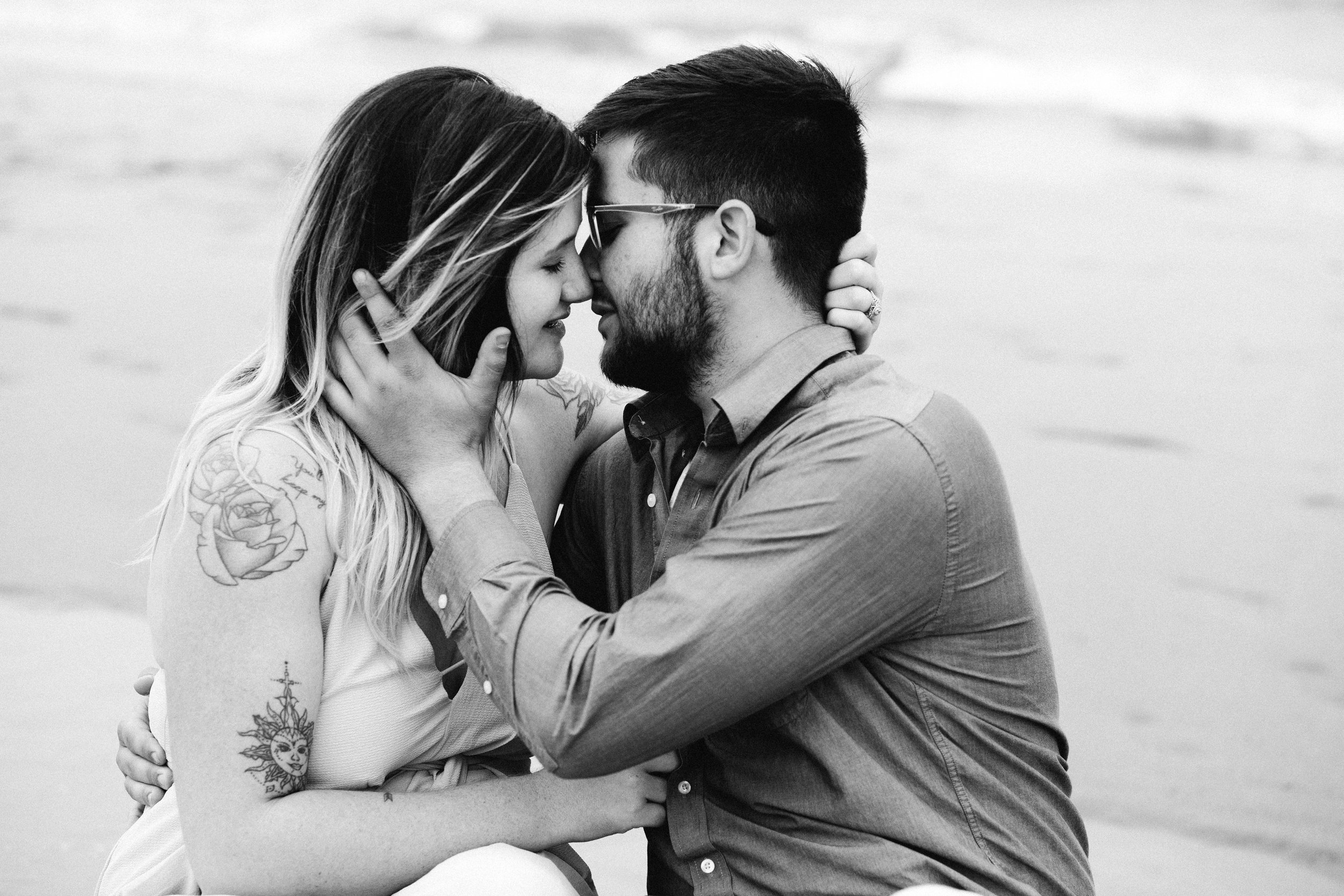 Romantic White City Beach Upper Michigan Engagement Photo Session by Seattle Engagement Photographer Janelle Elaine Photography.jpg