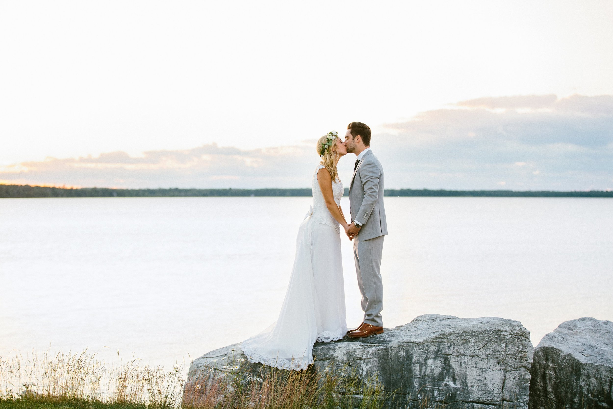 Summer Sunset bridal portraits at the Gordon Lodge WI.jpg
