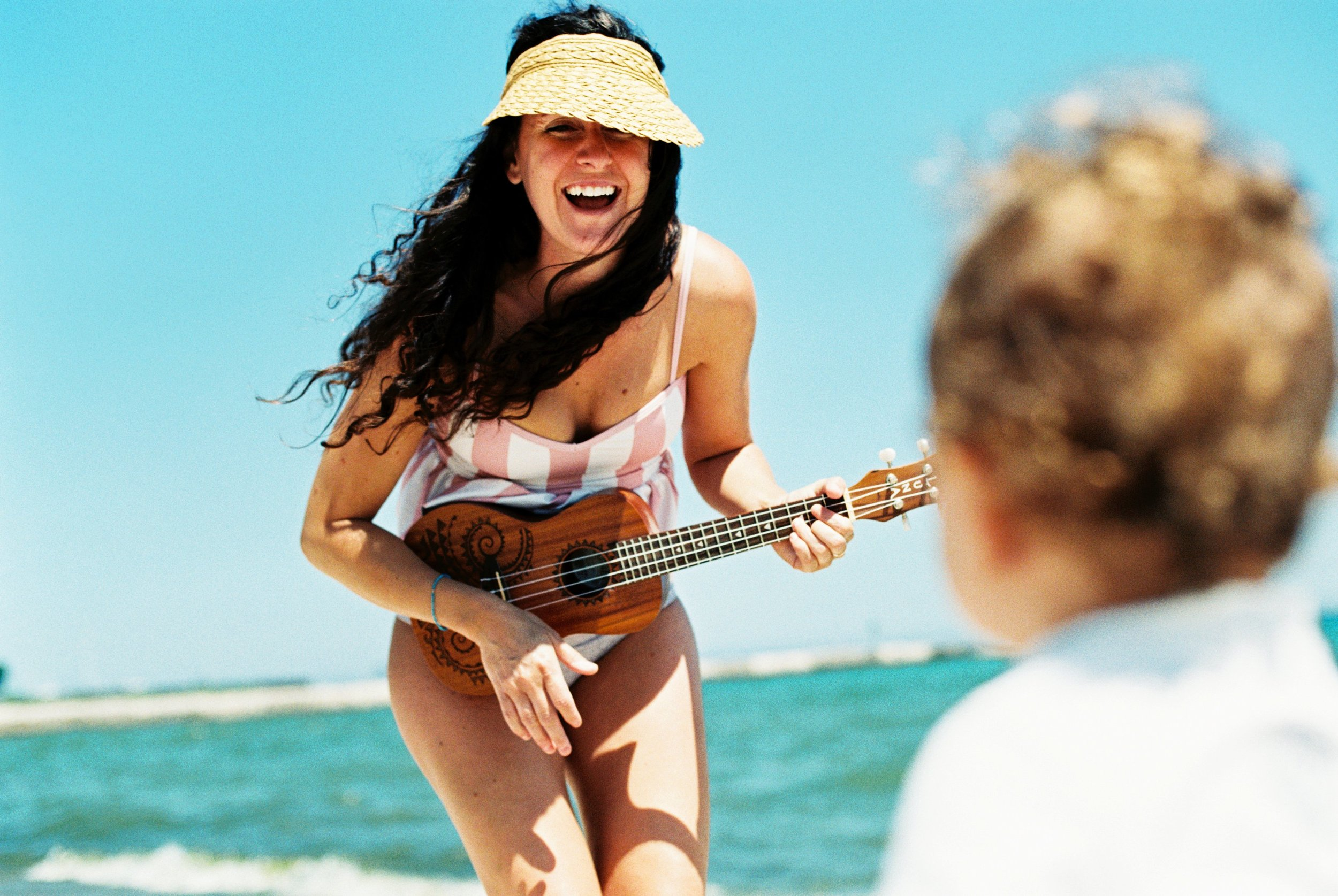 Summer Beach Mommy and Me Lifestyle Portrait Photographer Janelle Elaine Photography on film.jpg