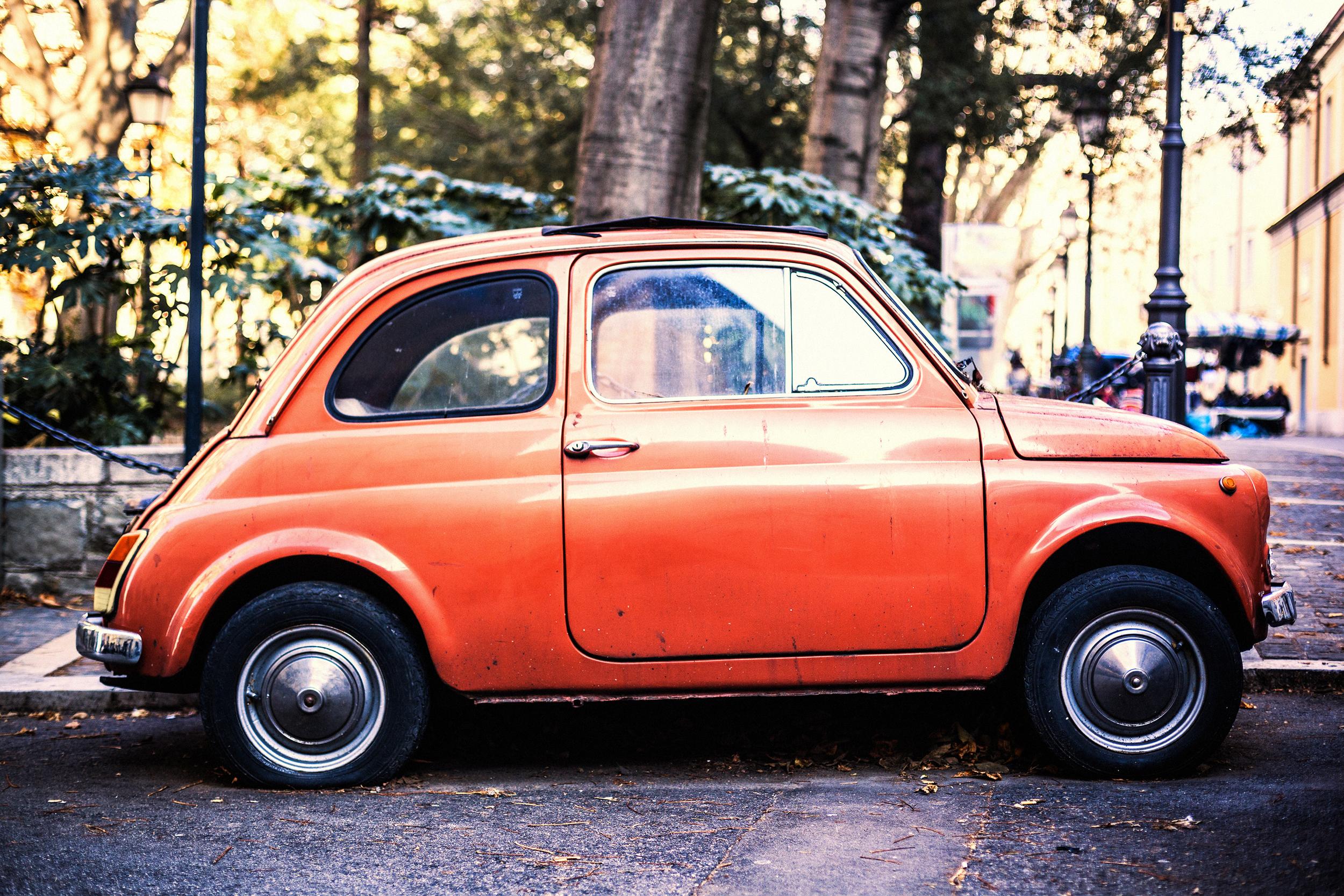 orange italian fiat