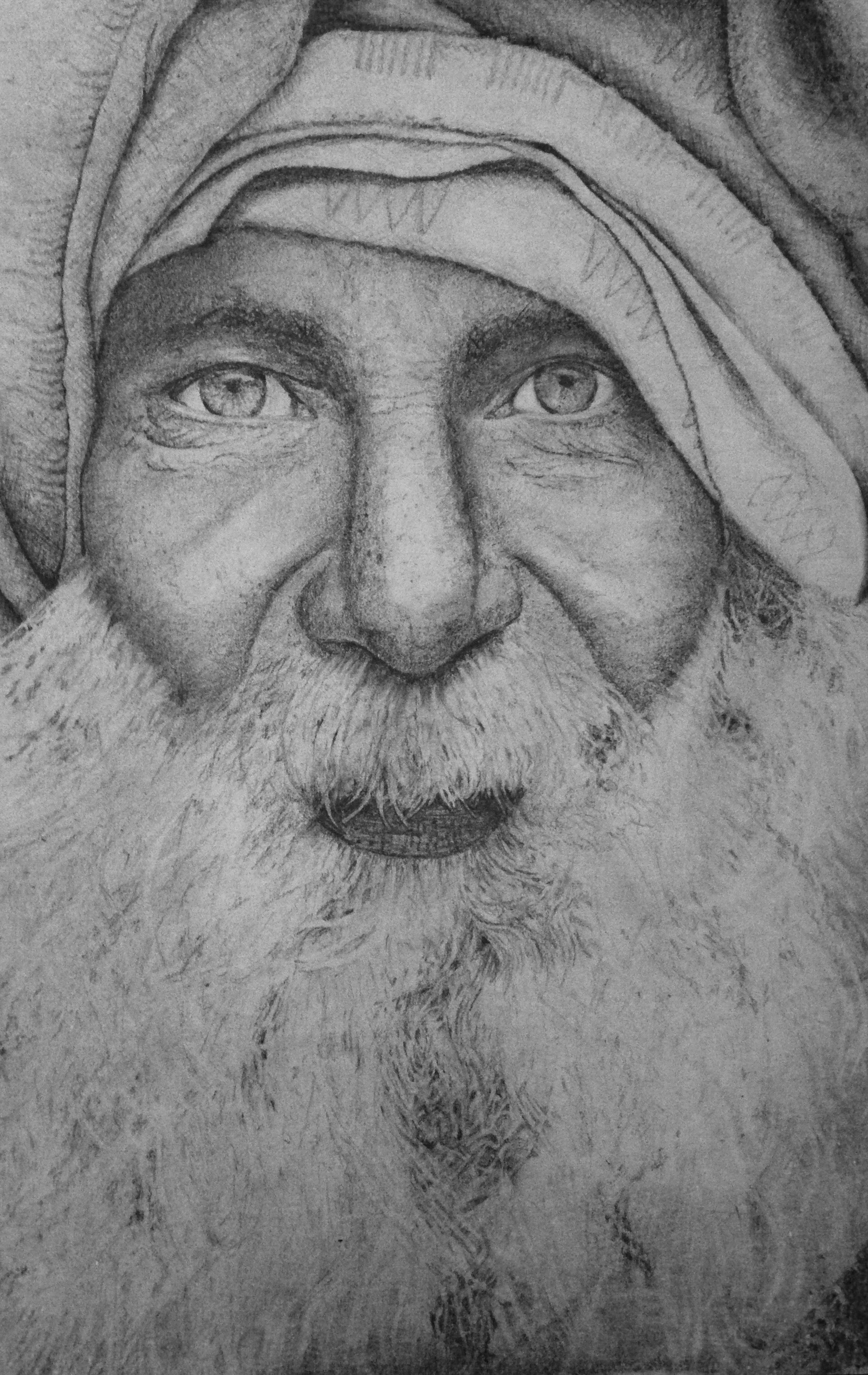 Graphite drawing from a photograph