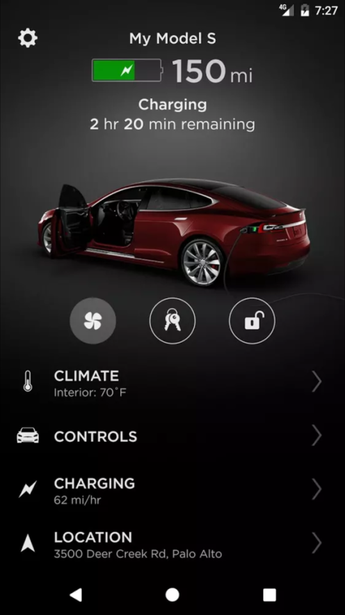 | Source: Electrek | A quick look at the newly redesigned Tesla Mobile App