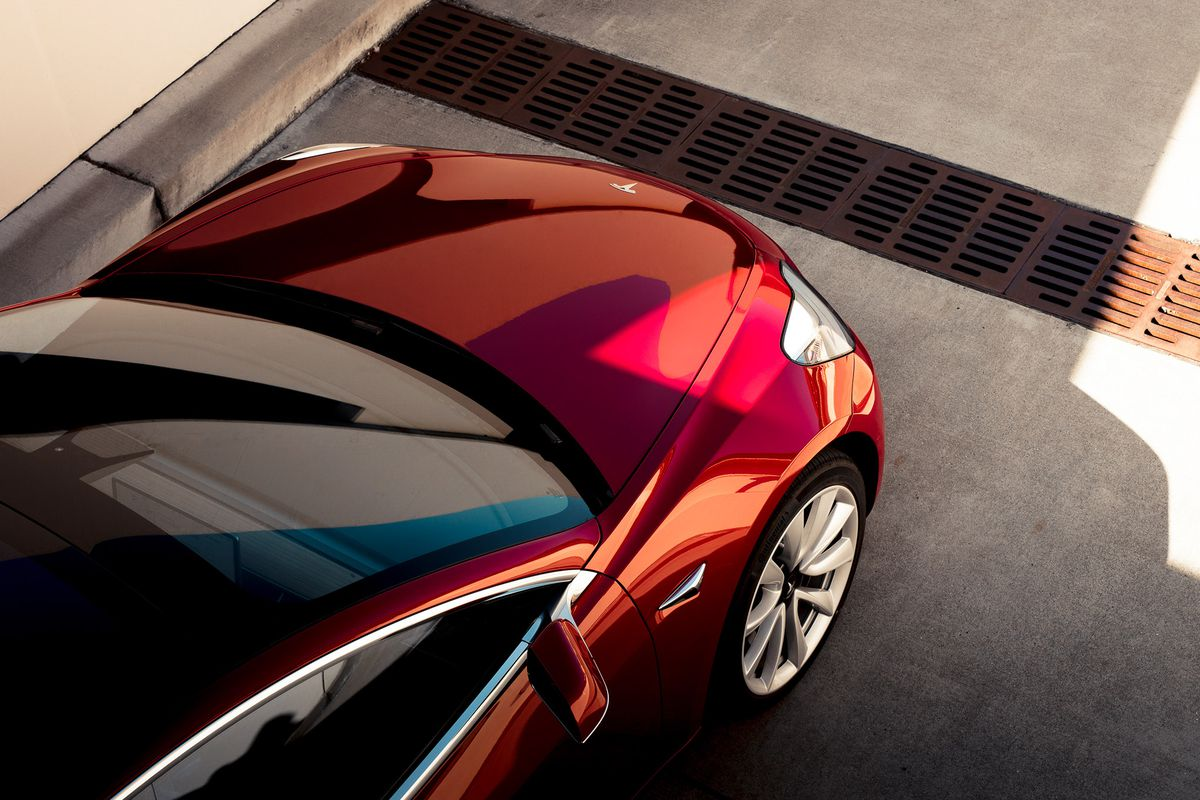 | Source: Tesla | A closer look at the Model 3's exterior.