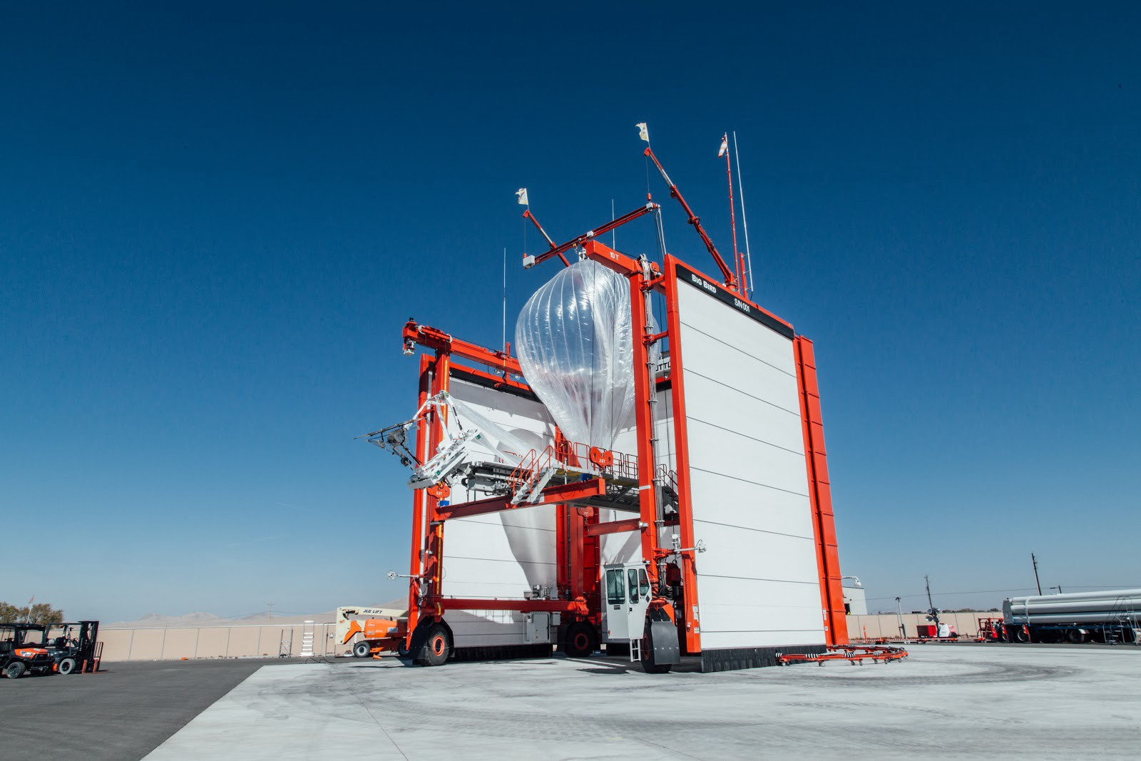 | Source: Project Loom | A Project Loom balloon preparing for flight at the launching facility in Nevada.