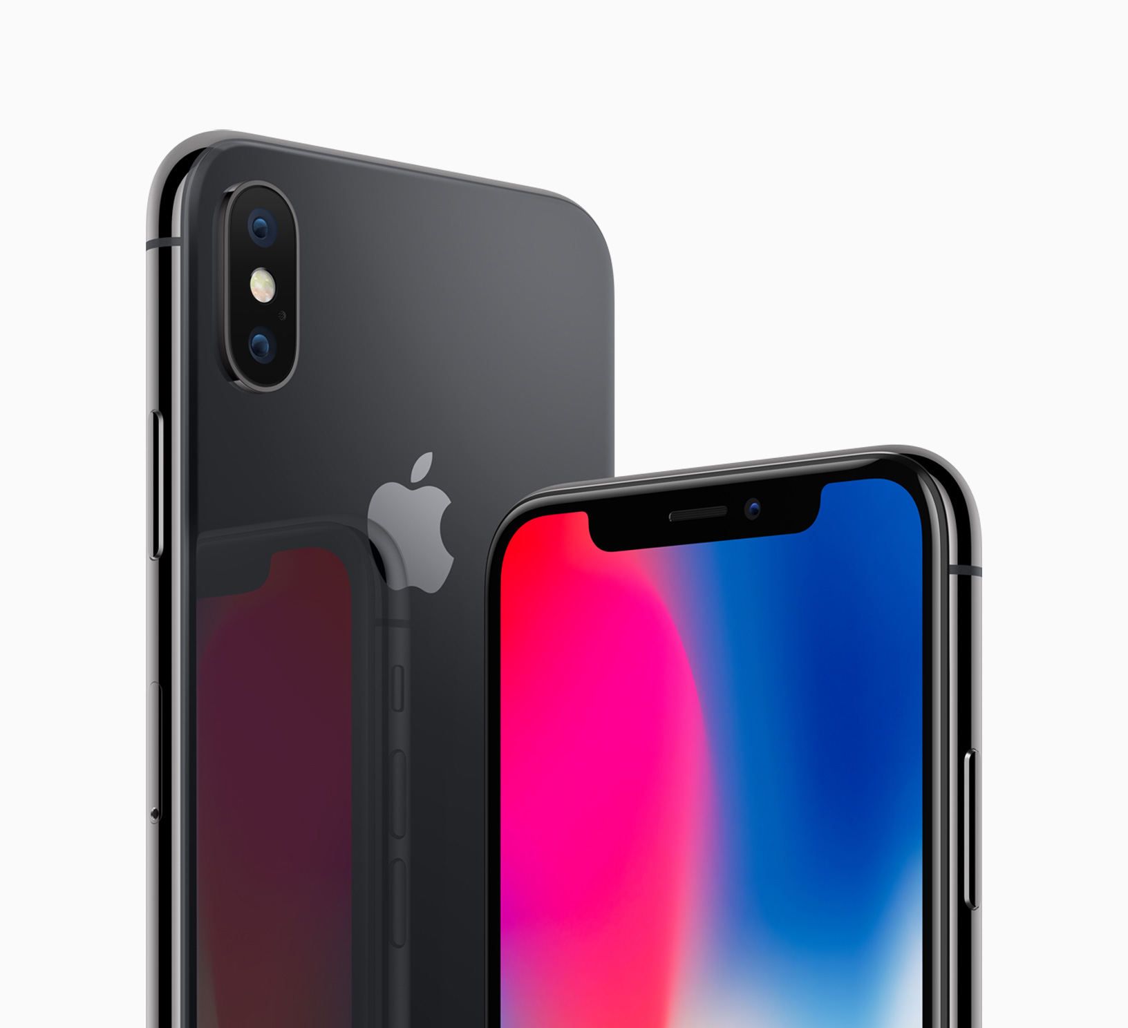   Source: Apple   Apple's iPhone X in Space Gray