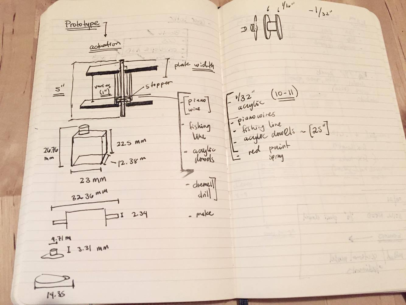 Sketch:   Initial prototyping sketch