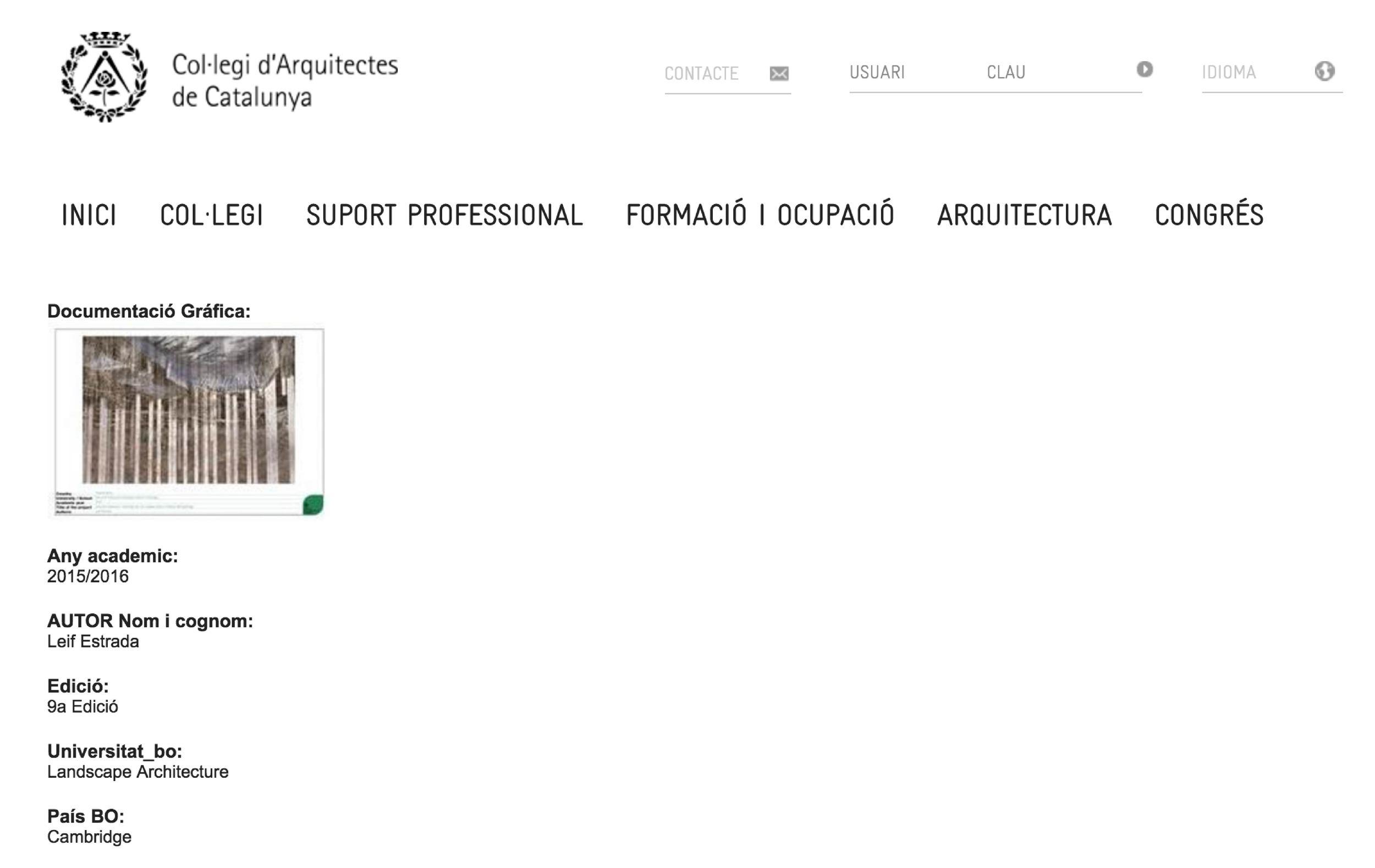Collegi d'Architectes de Catalunya