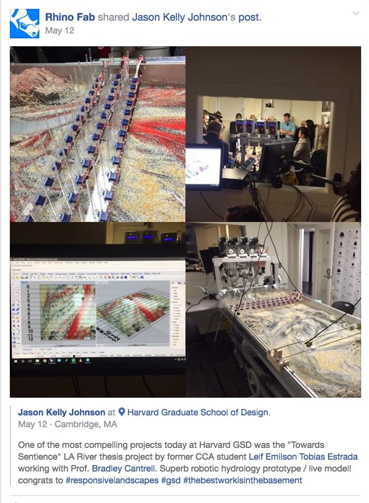 Rhino Fab - Social Media Feature through ACADIA President post, Jason Johnson